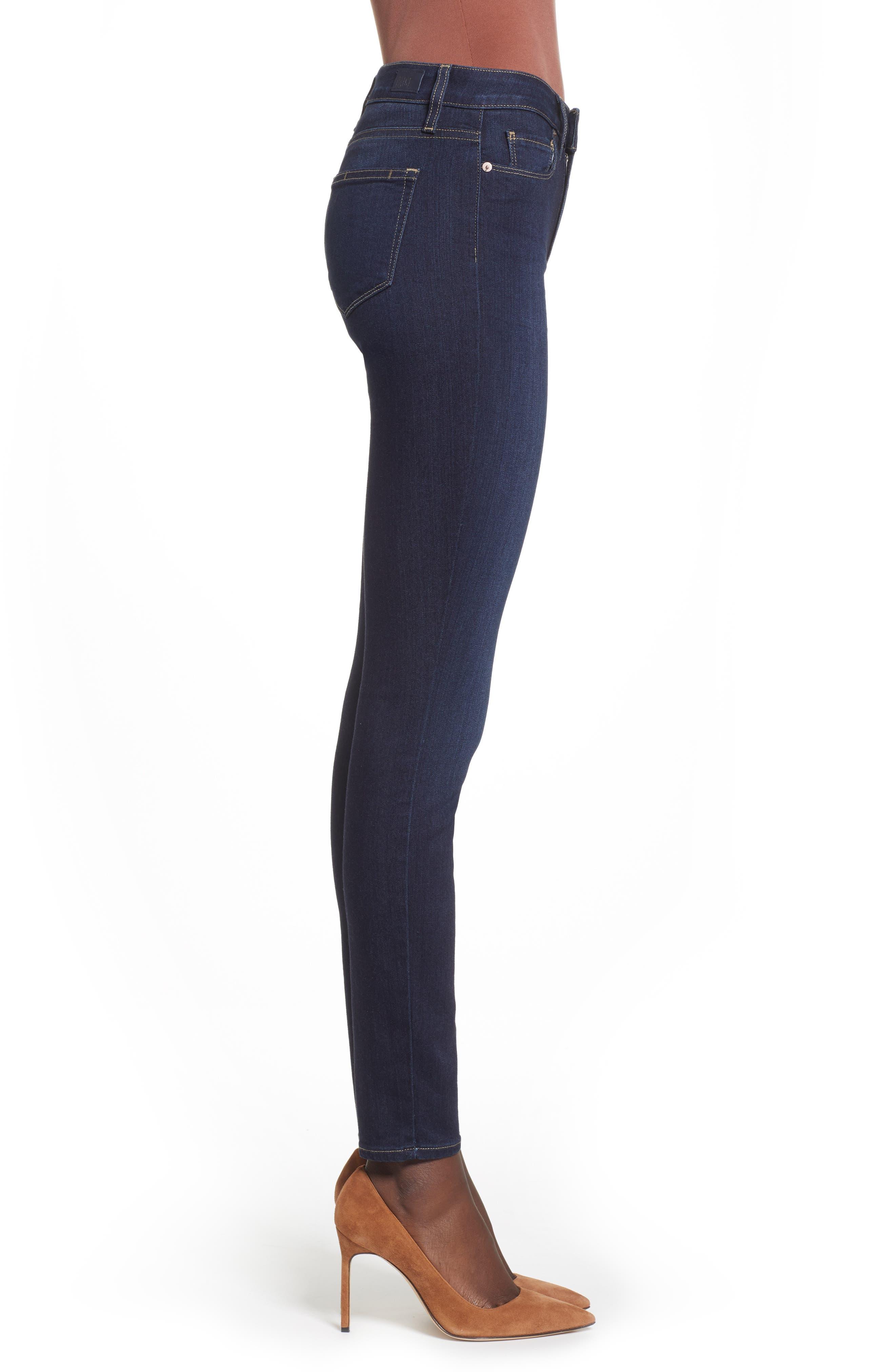 Transcend - Hoxton High Waist Ultra Skinny Jeans,                             Alternate thumbnail 3, color,                             SANIA