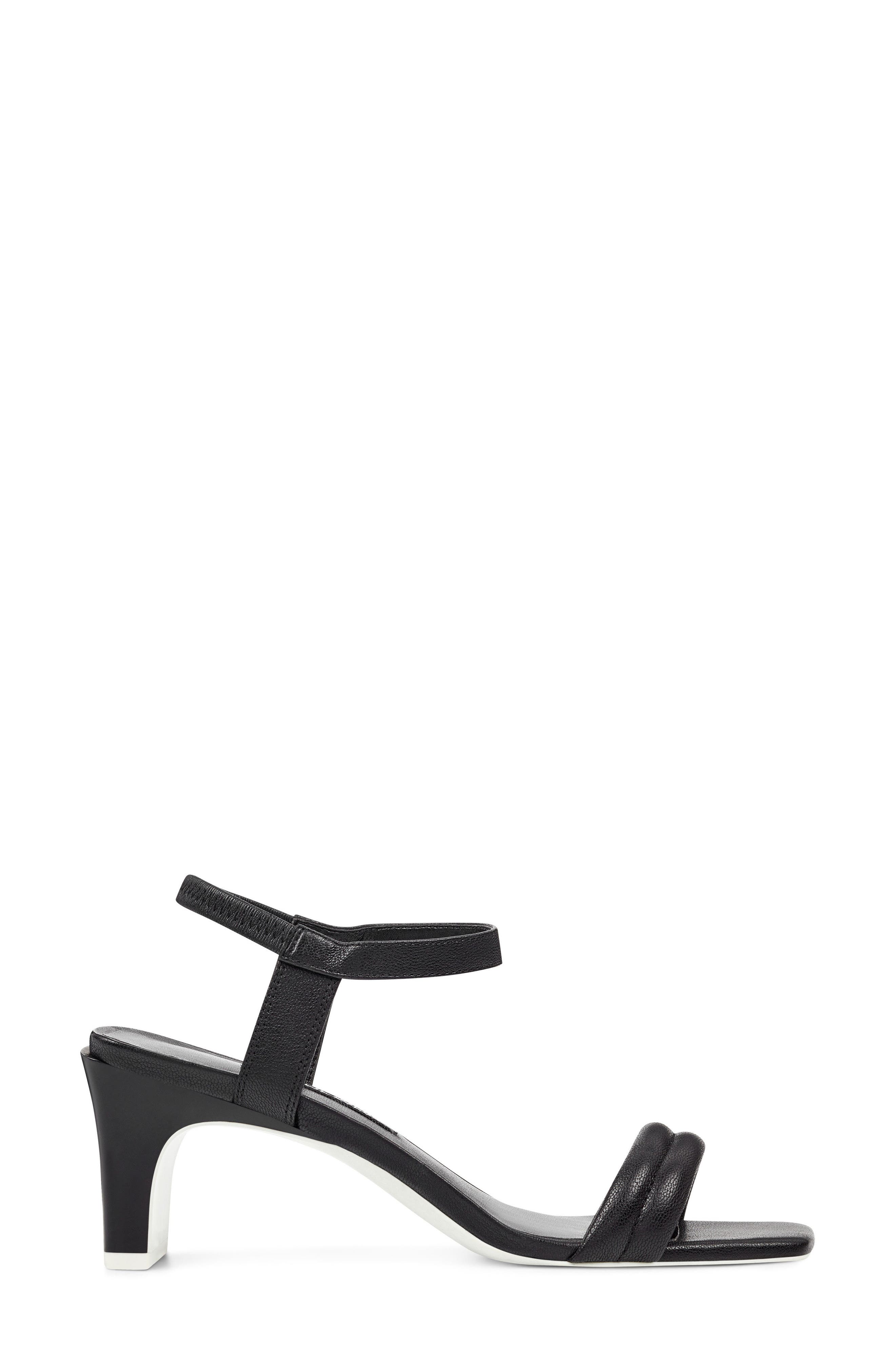 Urgreat Ankle Strap Sandal,                             Alternate thumbnail 3, color,                             BLACK LEATHER