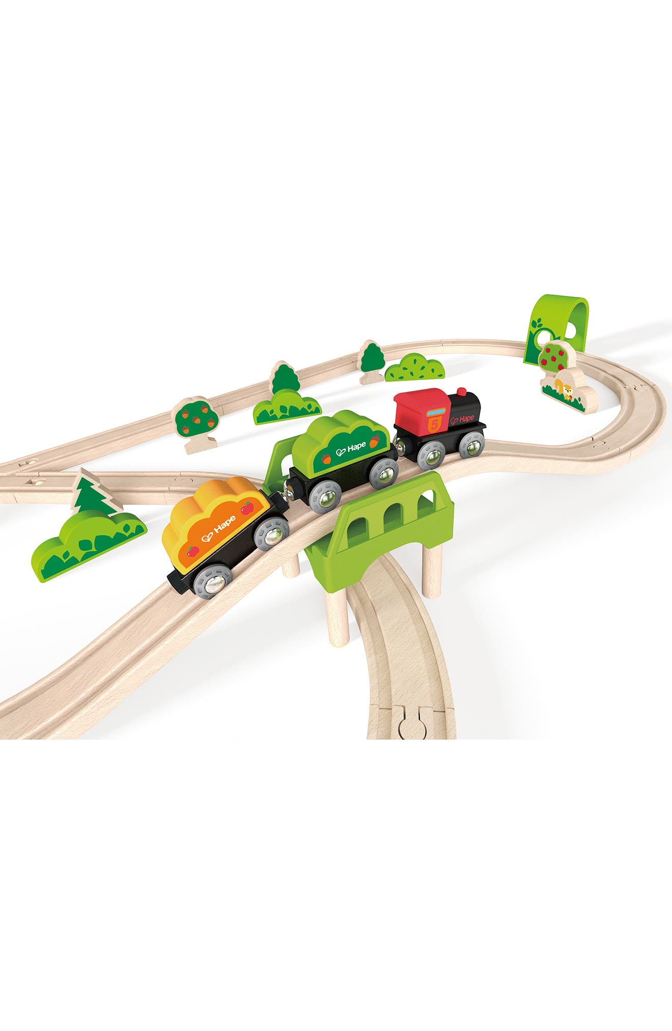 Forest Railway Wooden Train Set,                             Alternate thumbnail 3, color,                             600