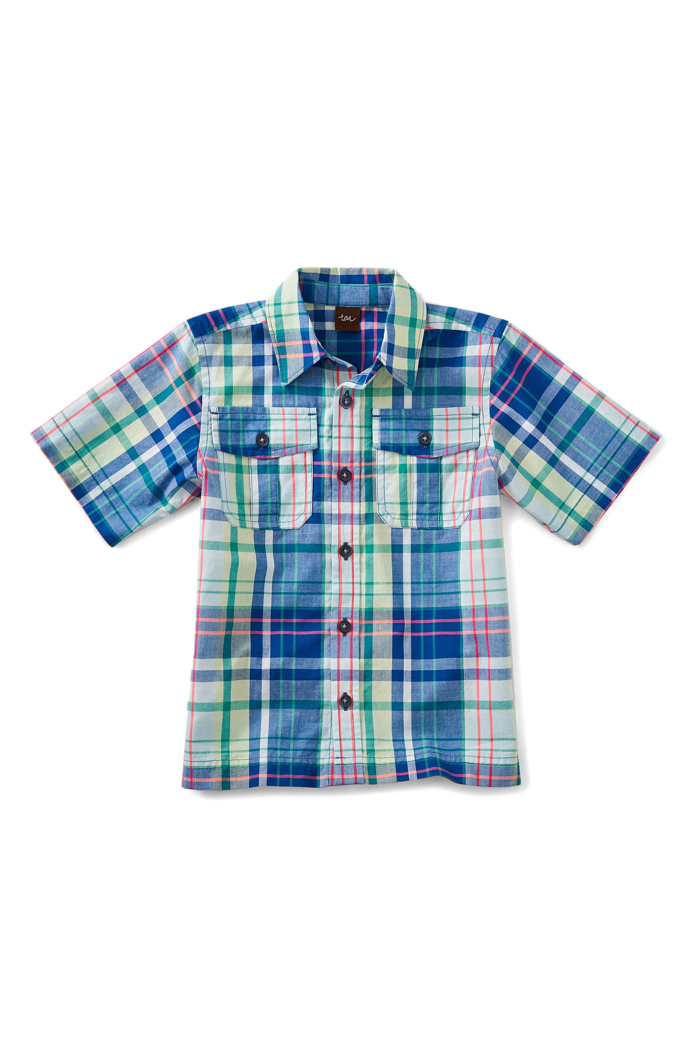 Plaid Woven Shirt,                         Main,                         color, 415