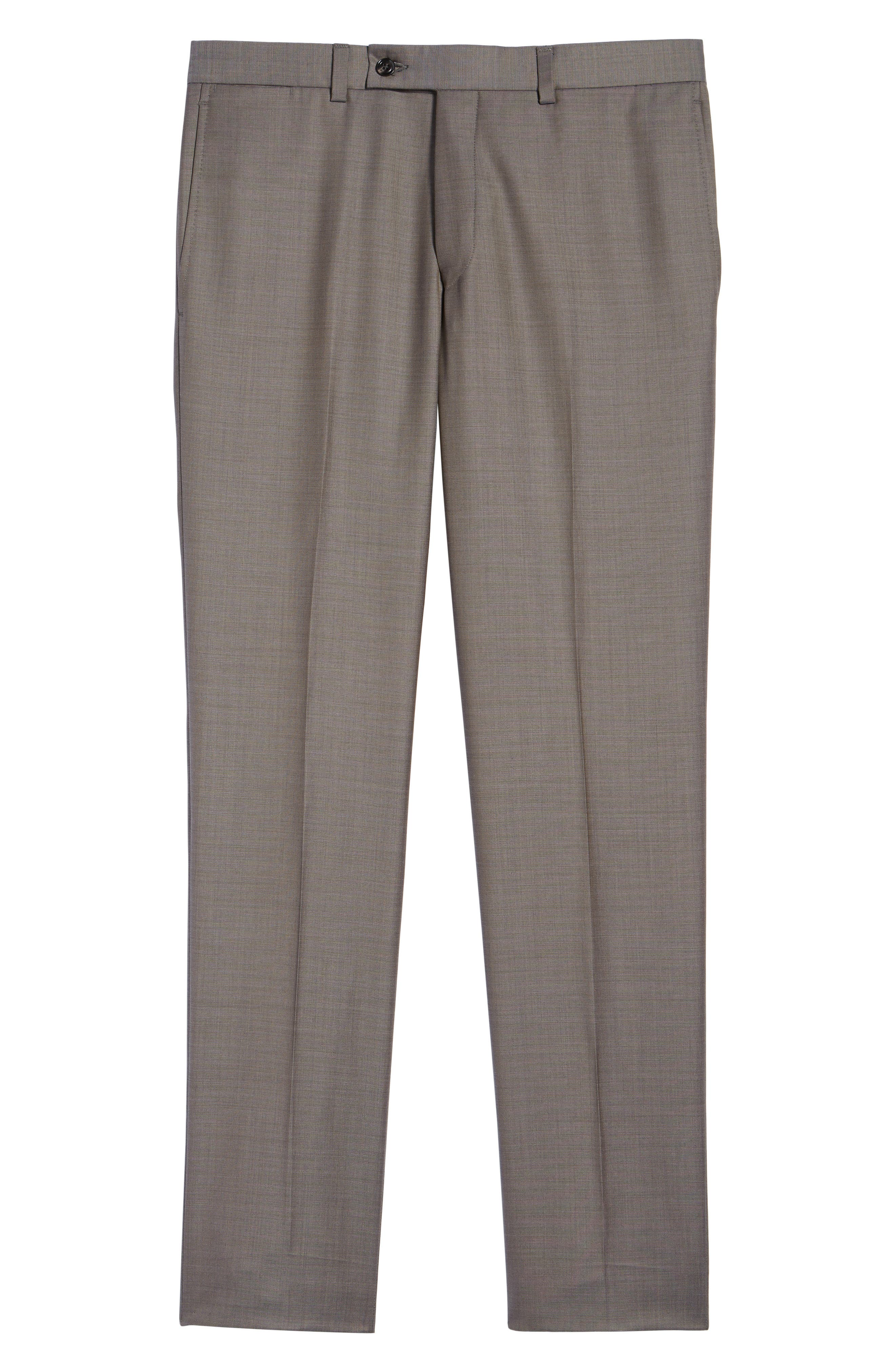 Jefferson Flat Front Wool Trousers,                             Alternate thumbnail 35, color,