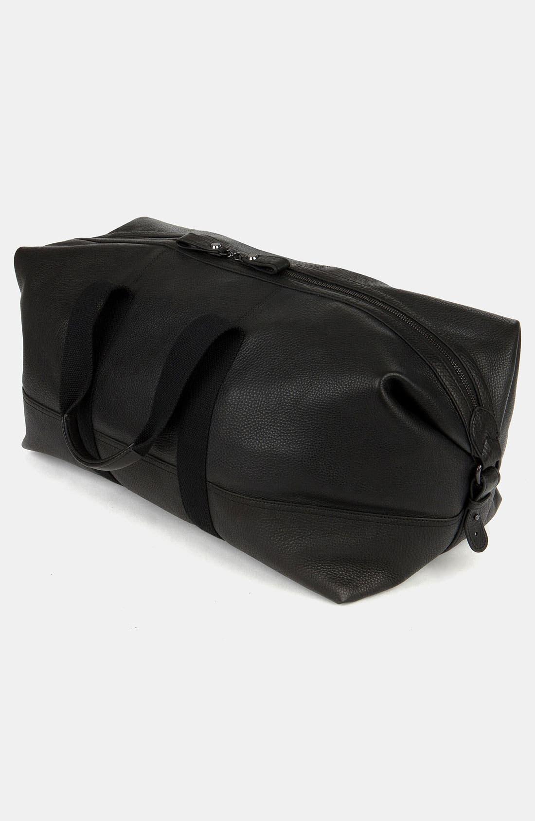 Leather Duffel Bag,                             Alternate thumbnail 2, color,