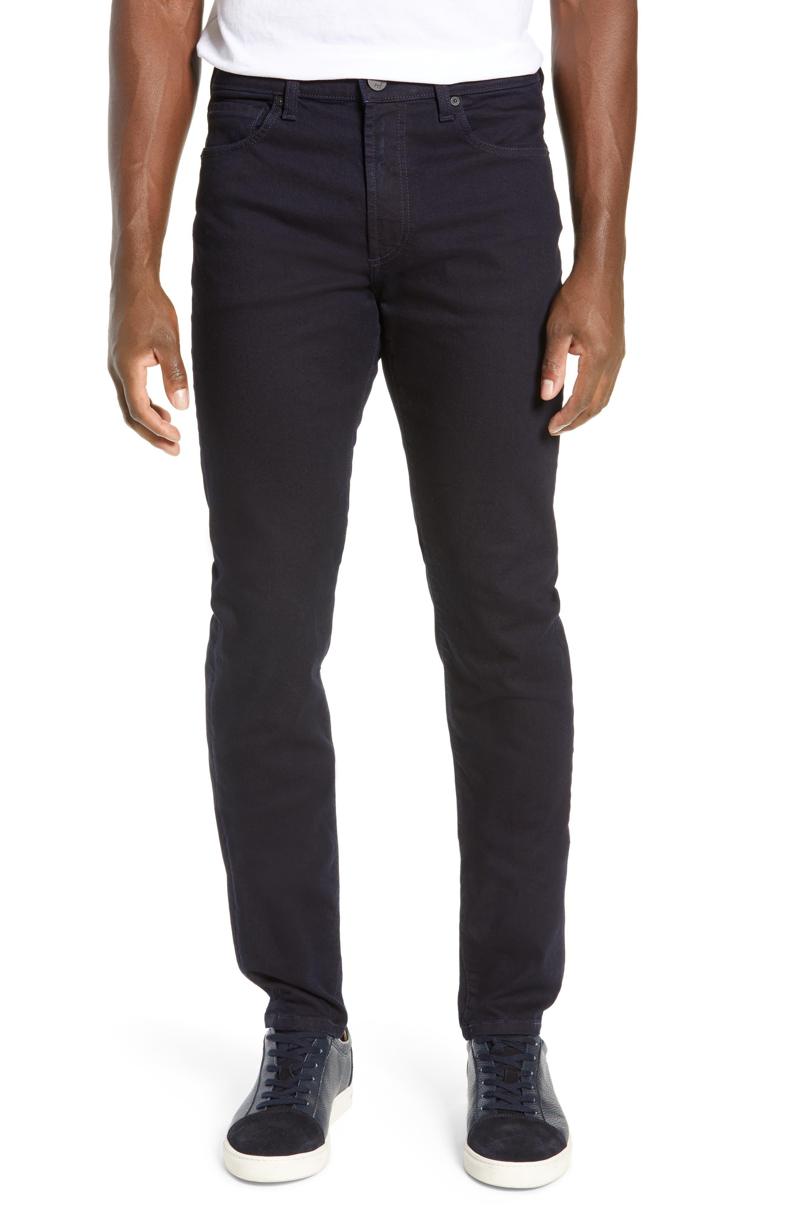 MONFRERE Deniro Slim Straight Leg Jeans in Ink