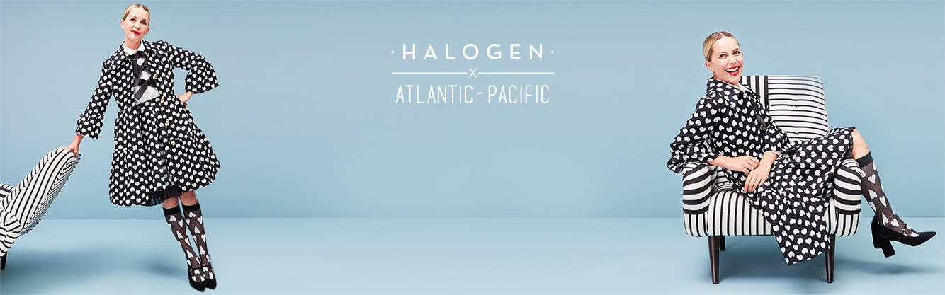 Blair Eadie is back: new women's Halogen x Atlantic-Pacific for fall.
