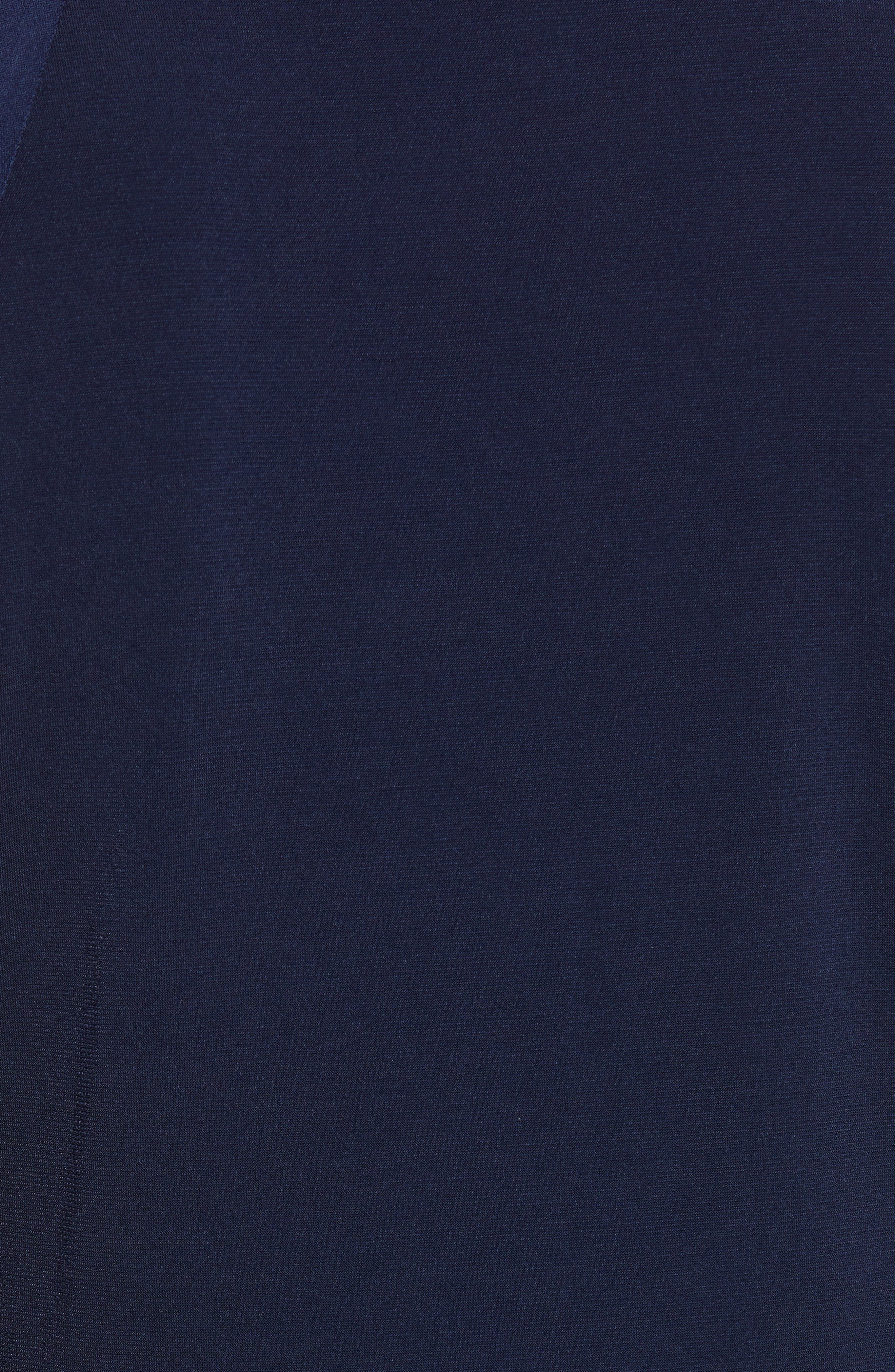 MICHAEL MICHAEL KORS,                             Chain Neck Top,                             Alternate thumbnail 5, color,                             TRUE NAVY