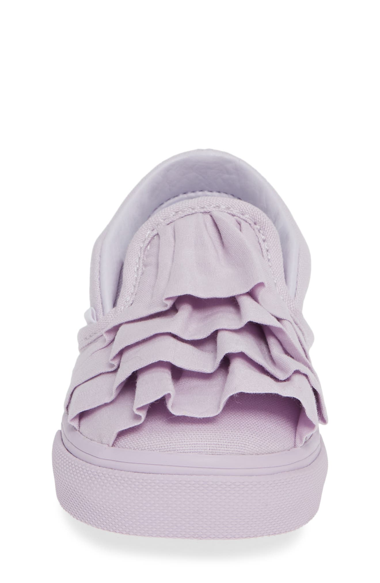 Ruffle Classic Slip-On Sneaker,                             Alternate thumbnail 4, color,                             530