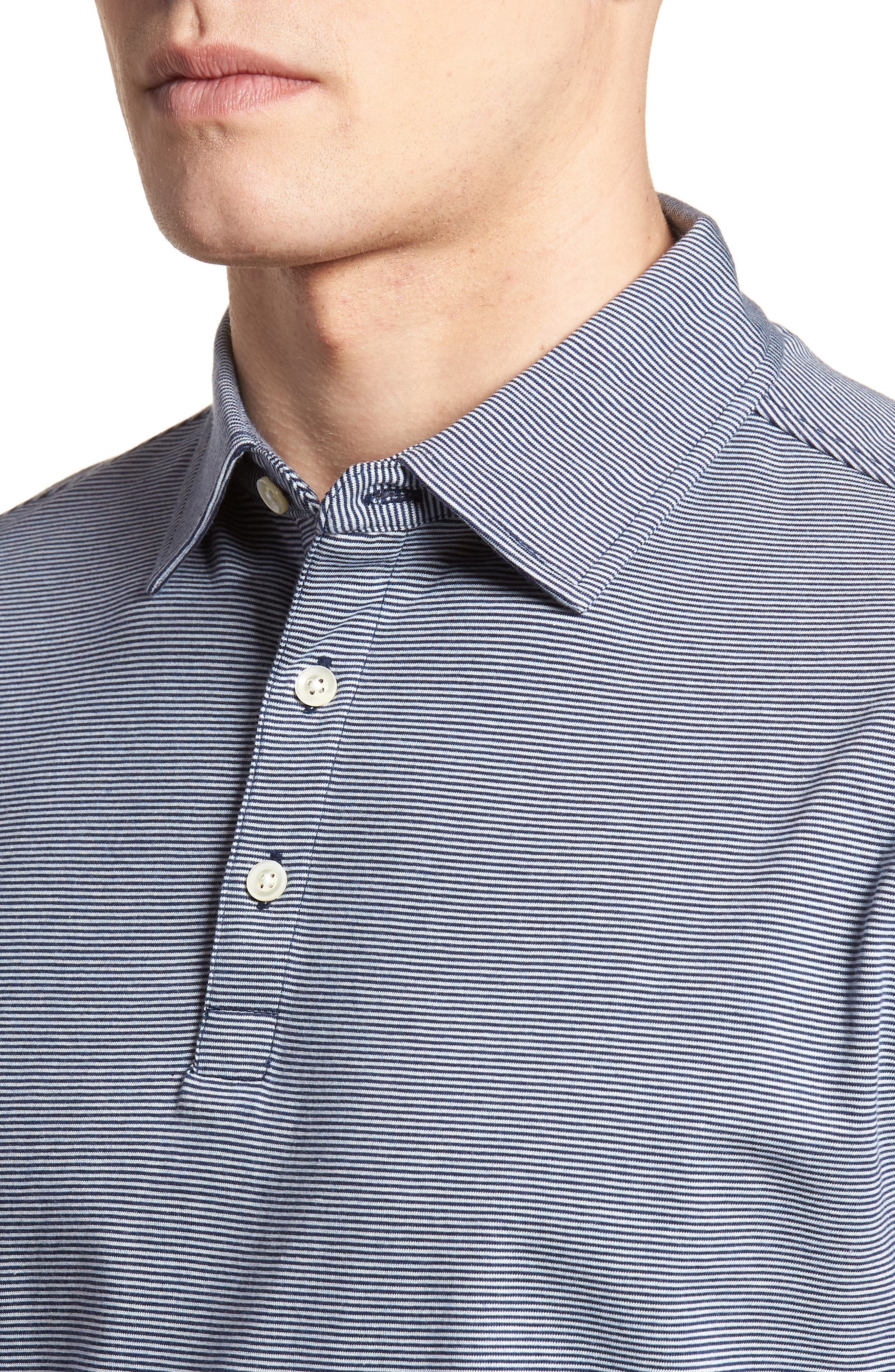 Crown Stripe Polo,                             Alternate thumbnail 4, color,                             400
