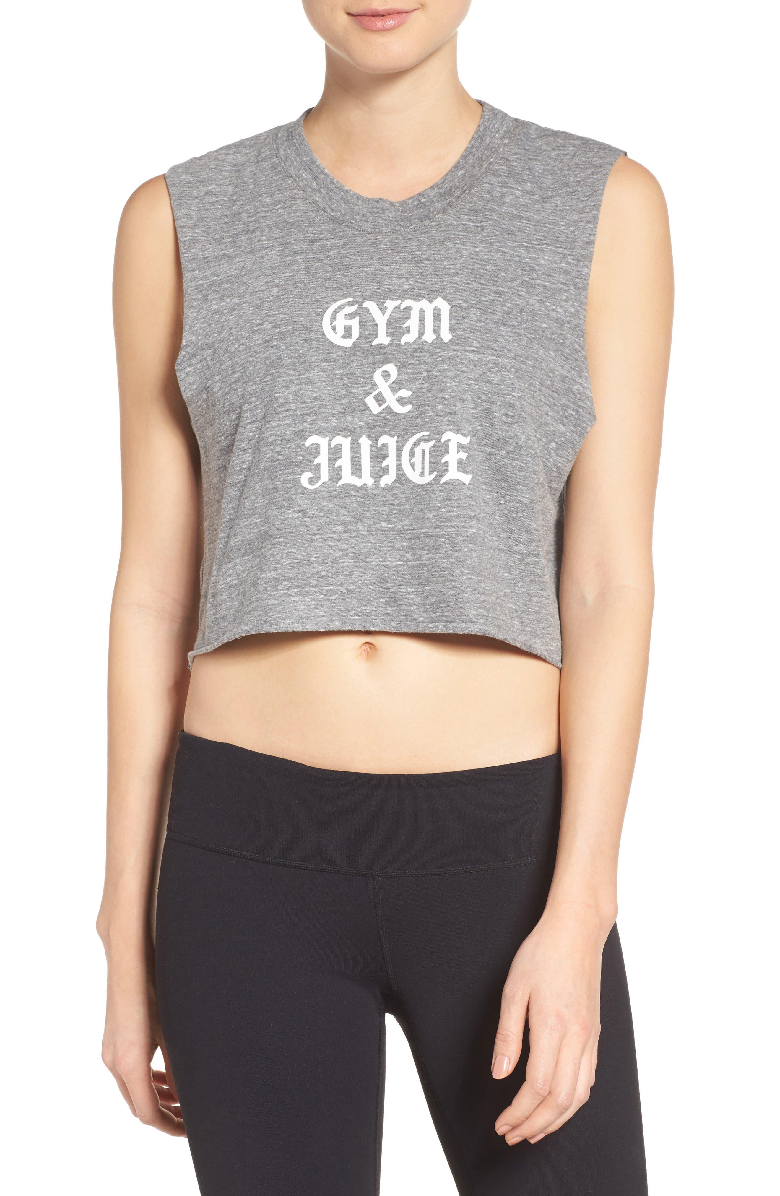 Gym & Juice Crop Tank,                         Main,                         color, 020
