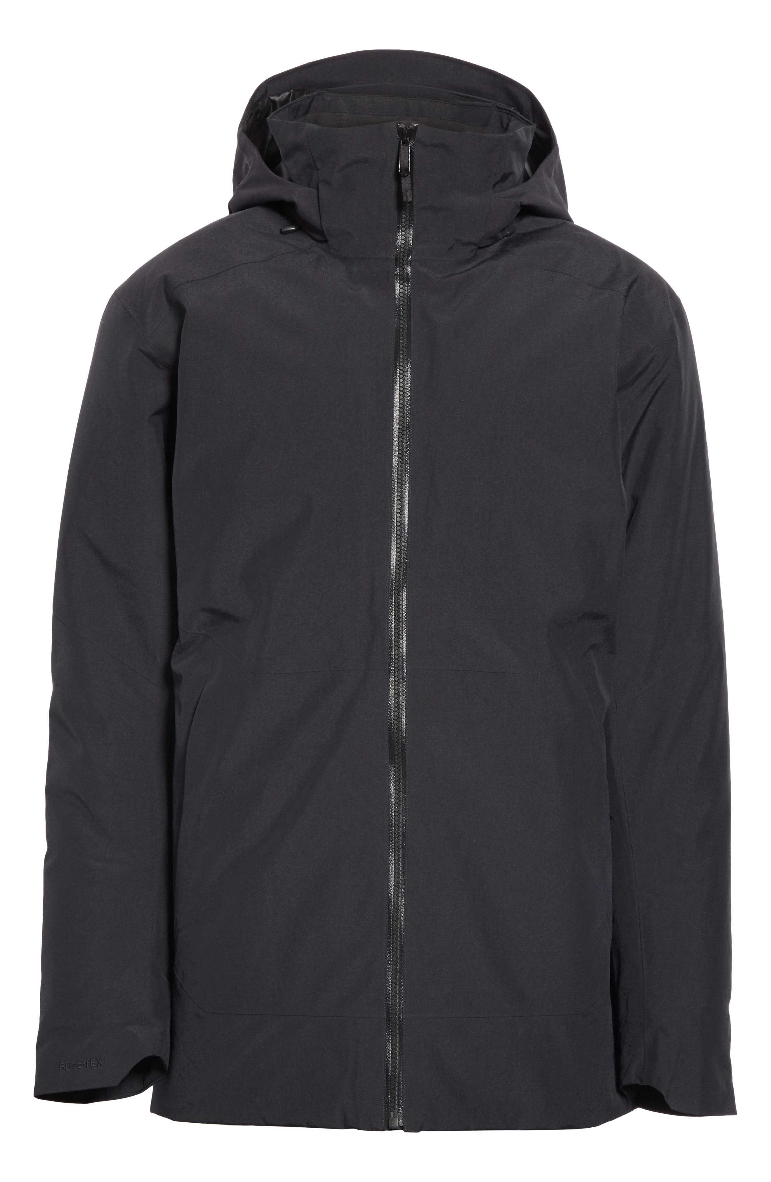 ARC'TERYX,                             Camosun Men's Parka with Removable Hood,                             Main thumbnail 1, color,                             BLACK