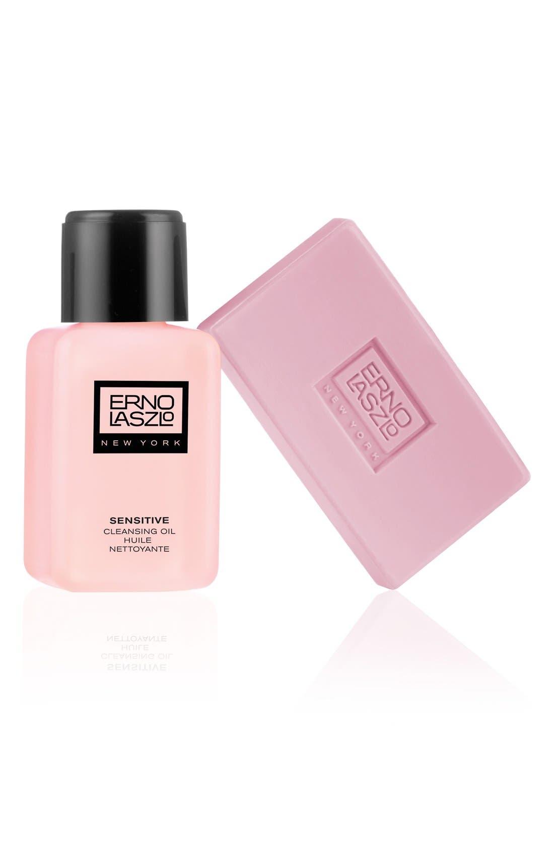 Sensitive Skin Cleansing Set,                             Main thumbnail 1, color,                             000