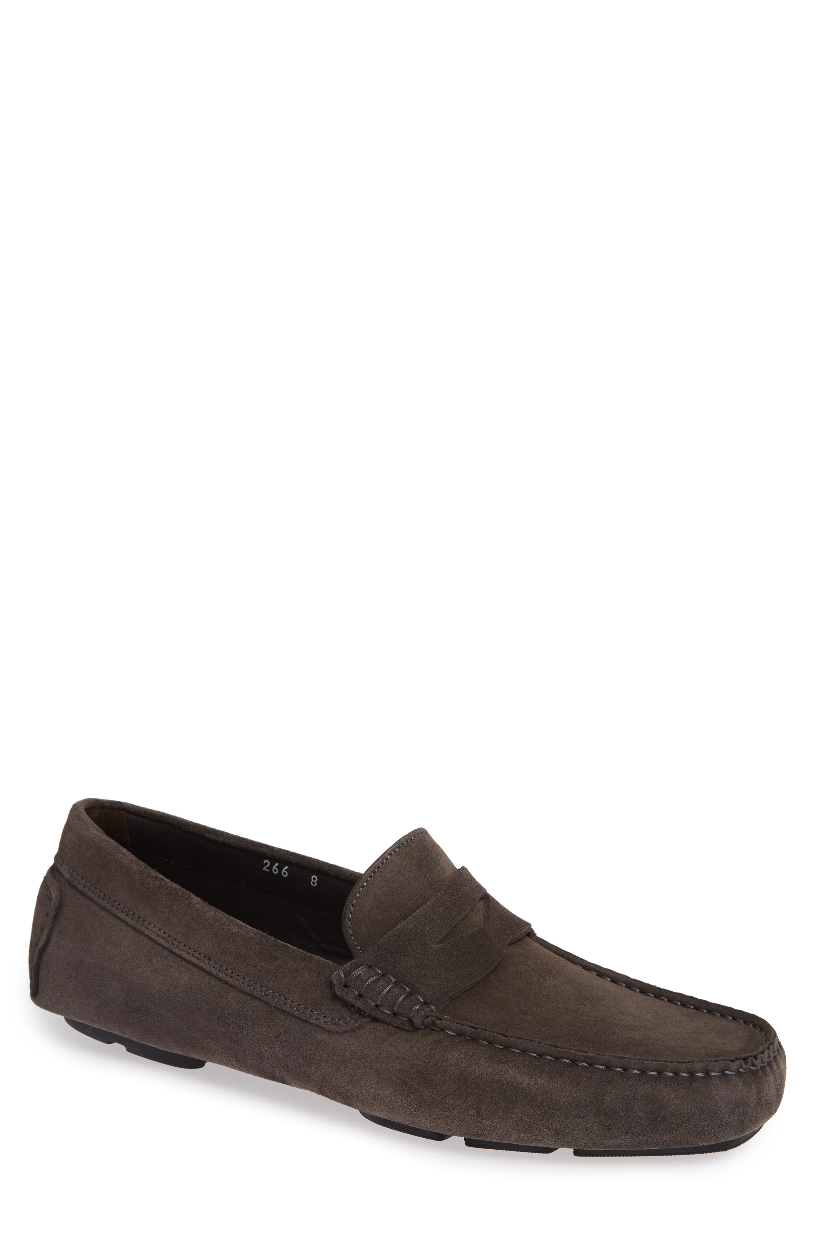 Jackson Penny Driving Loafer,                         Main,                         color, GREY LEATHER