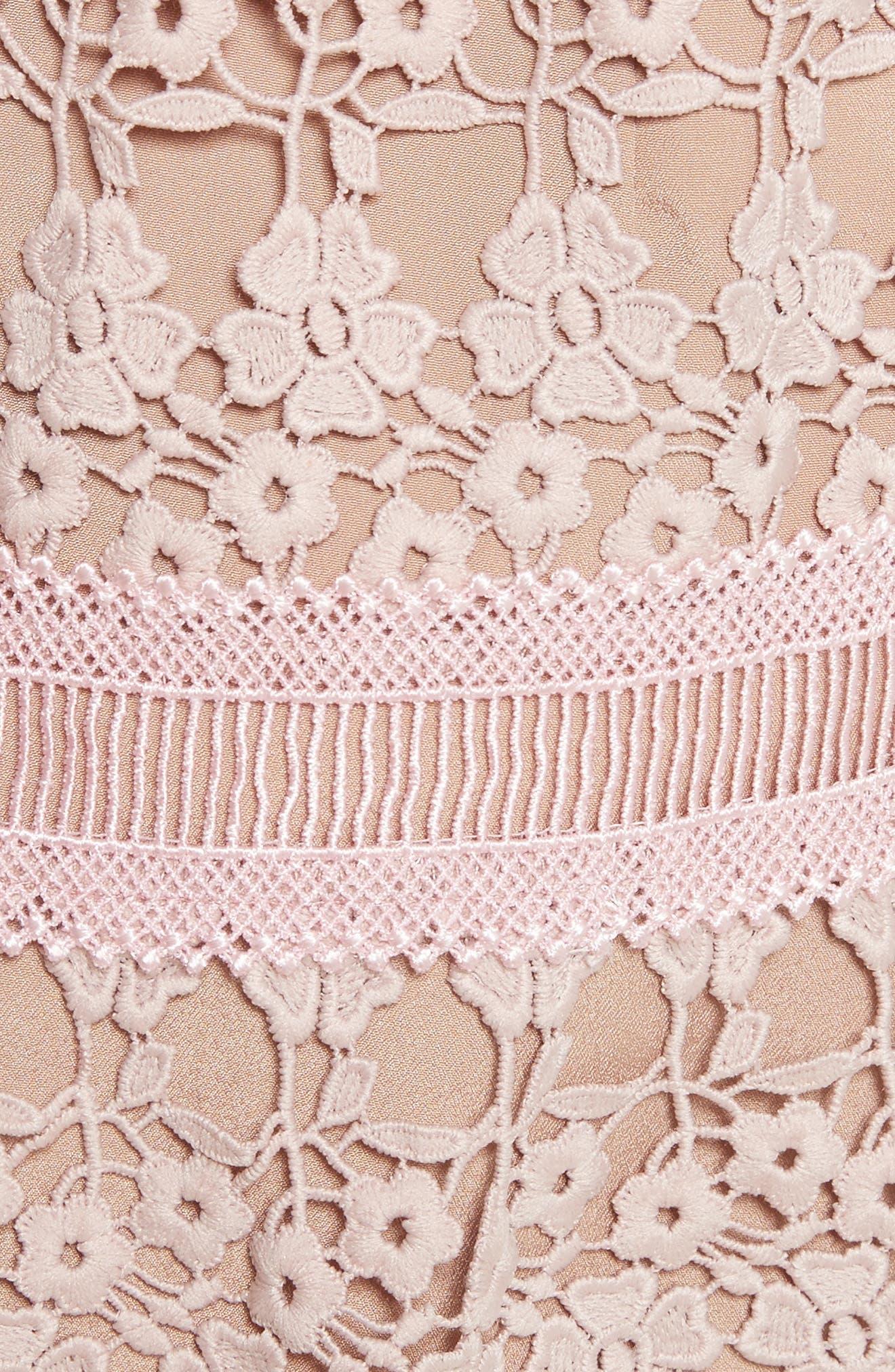 Floral Vine Cape Minidress,                             Alternate thumbnail 5, color,