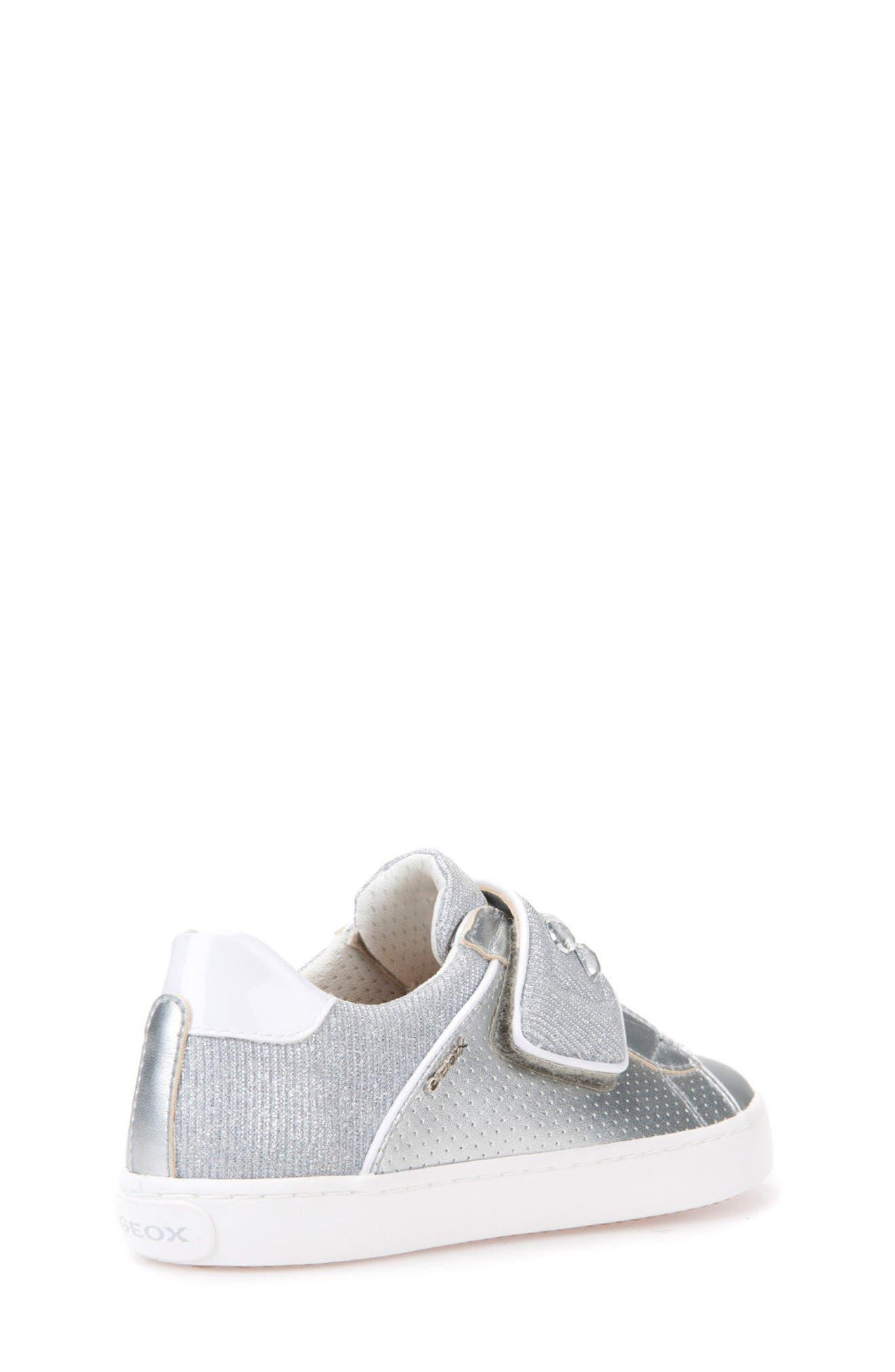 Kilwi Metallic Embellished Sneaker,                             Alternate thumbnail 2, color,                             SILVER