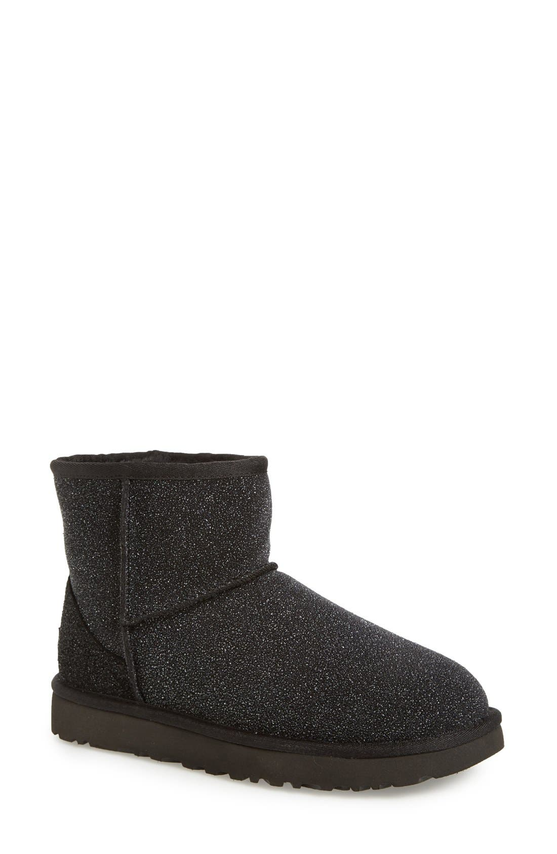UGG 'Classic Mini Serein' Genuine Shearling Boot, Main, color, 001