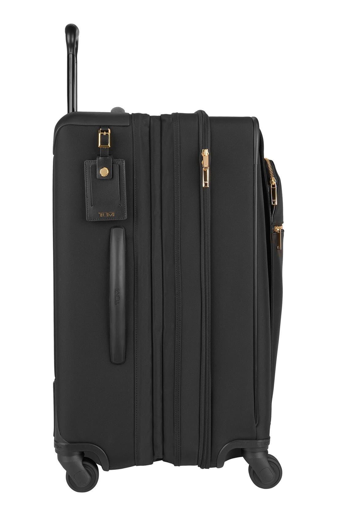 Larkin - Jess Short Trip 26-Inch Expandable 4-Wheel Suitcase,                             Alternate thumbnail 11, color,                             BLACK