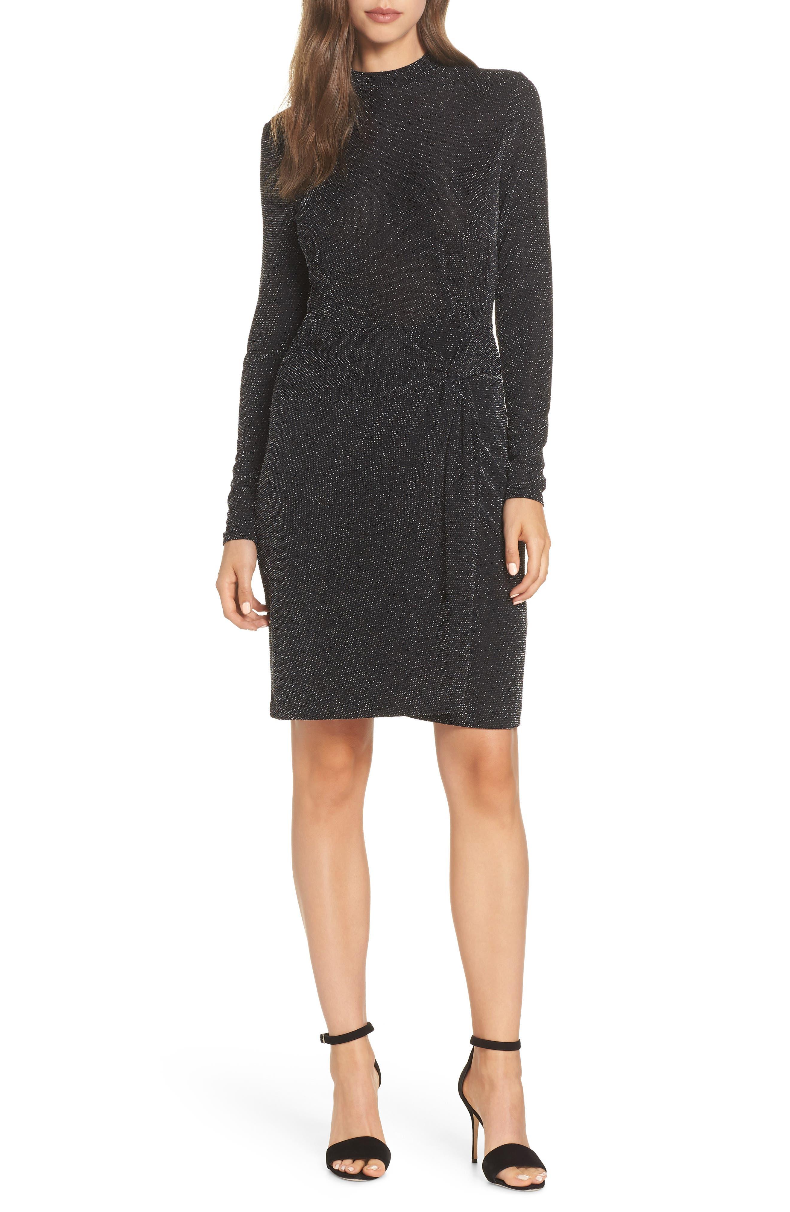 Side Twist Mock Neck Dress, Main, color, 040