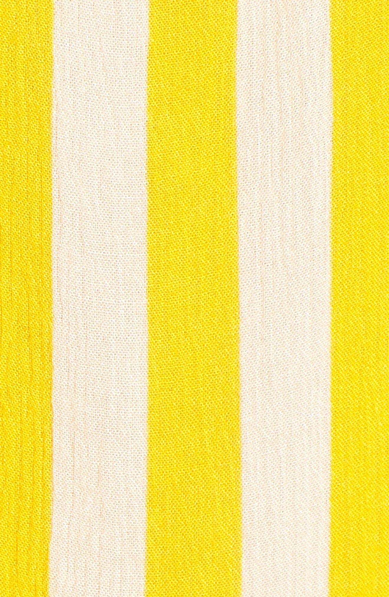 Tinsley Halter Dress,                             Alternate thumbnail 6, color,                             YELLOW STRIPE