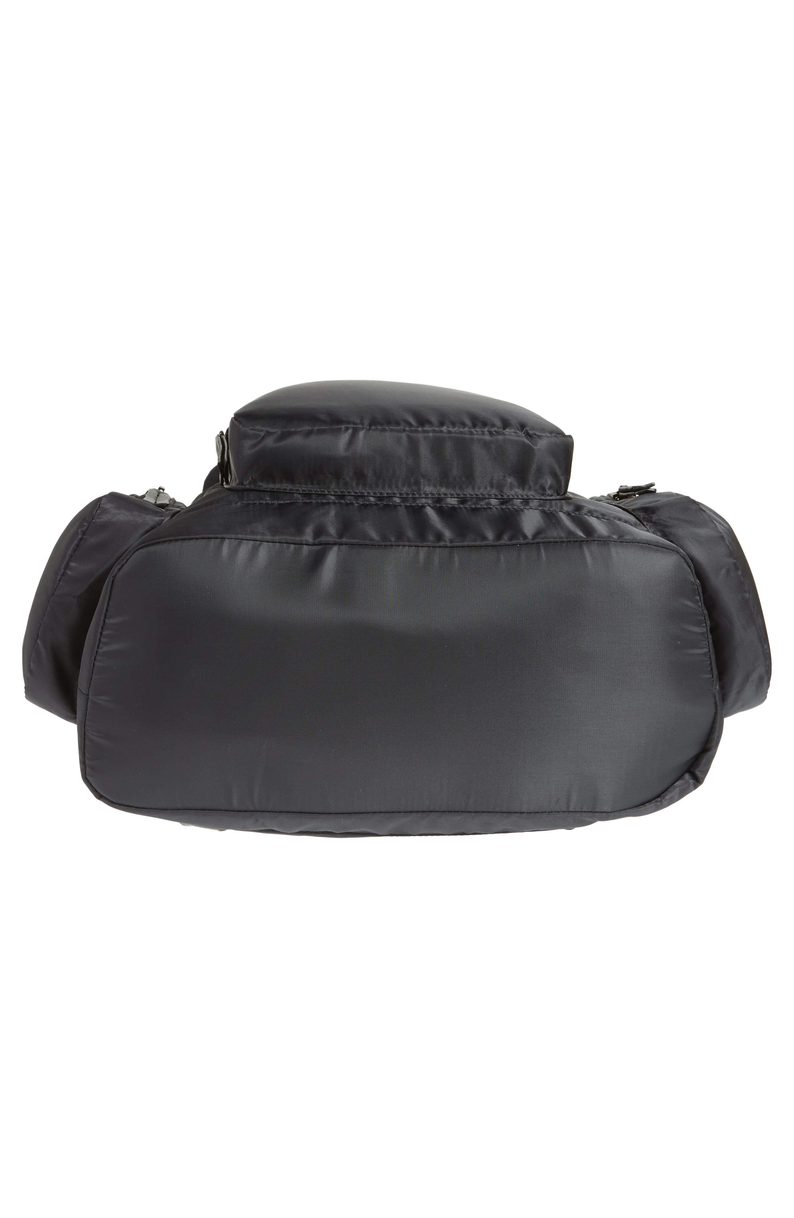 Oversized Utility Backpack,                             Alternate thumbnail 6, color,                             BLACK