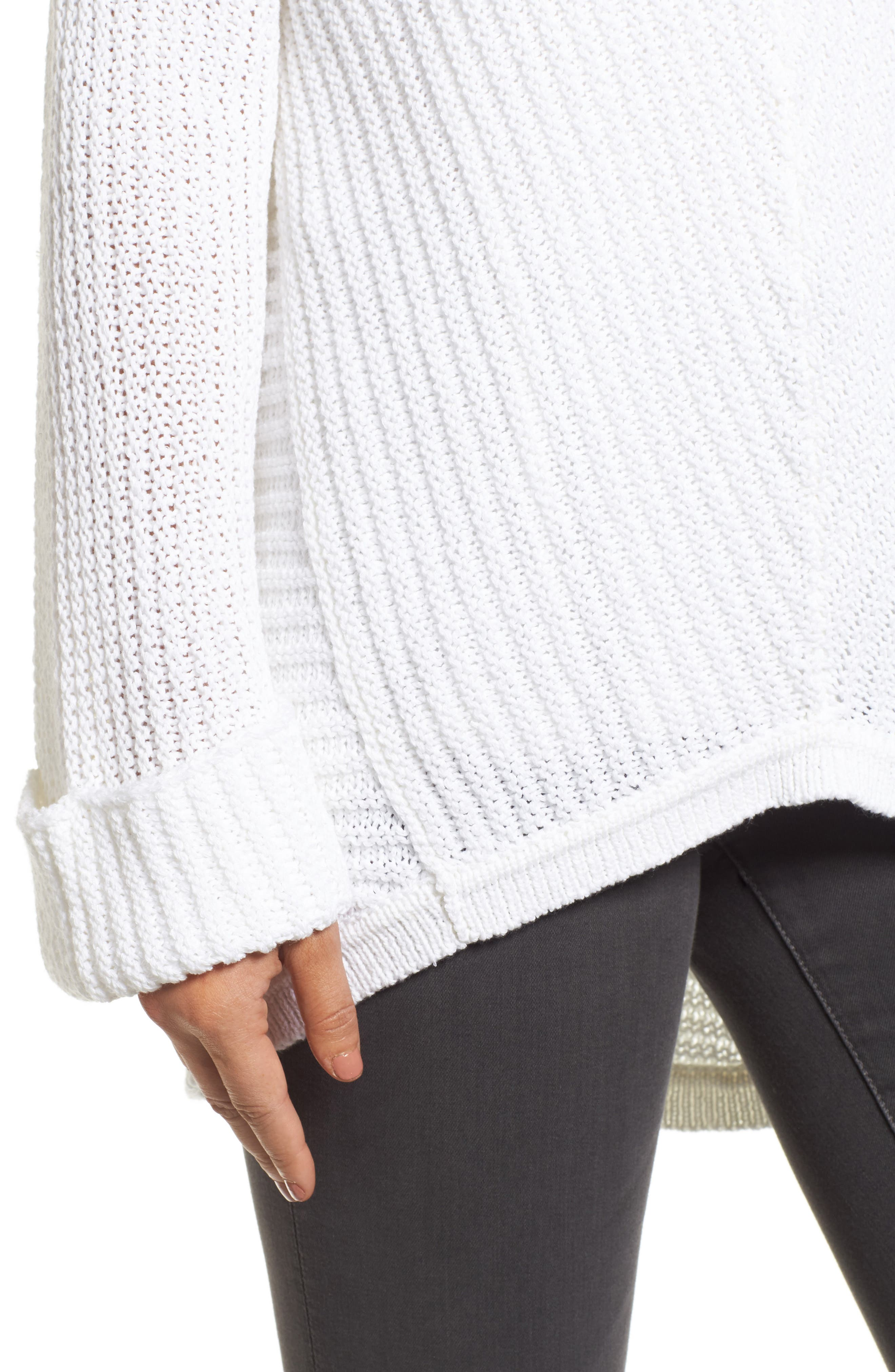 Cuffed Sleeve Sweater,                             Alternate thumbnail 16, color,