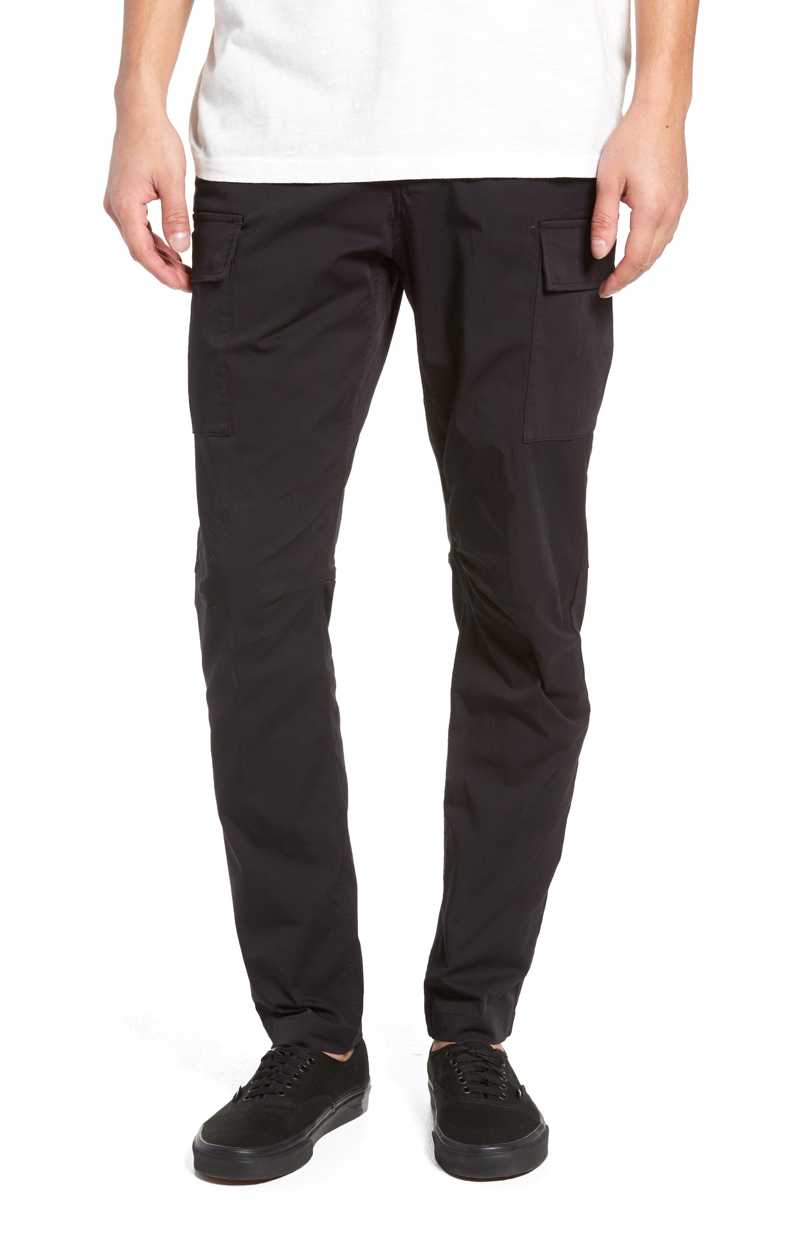 Cordura Slim Fit Cargo Pants,                         Main,                         color, BLACK