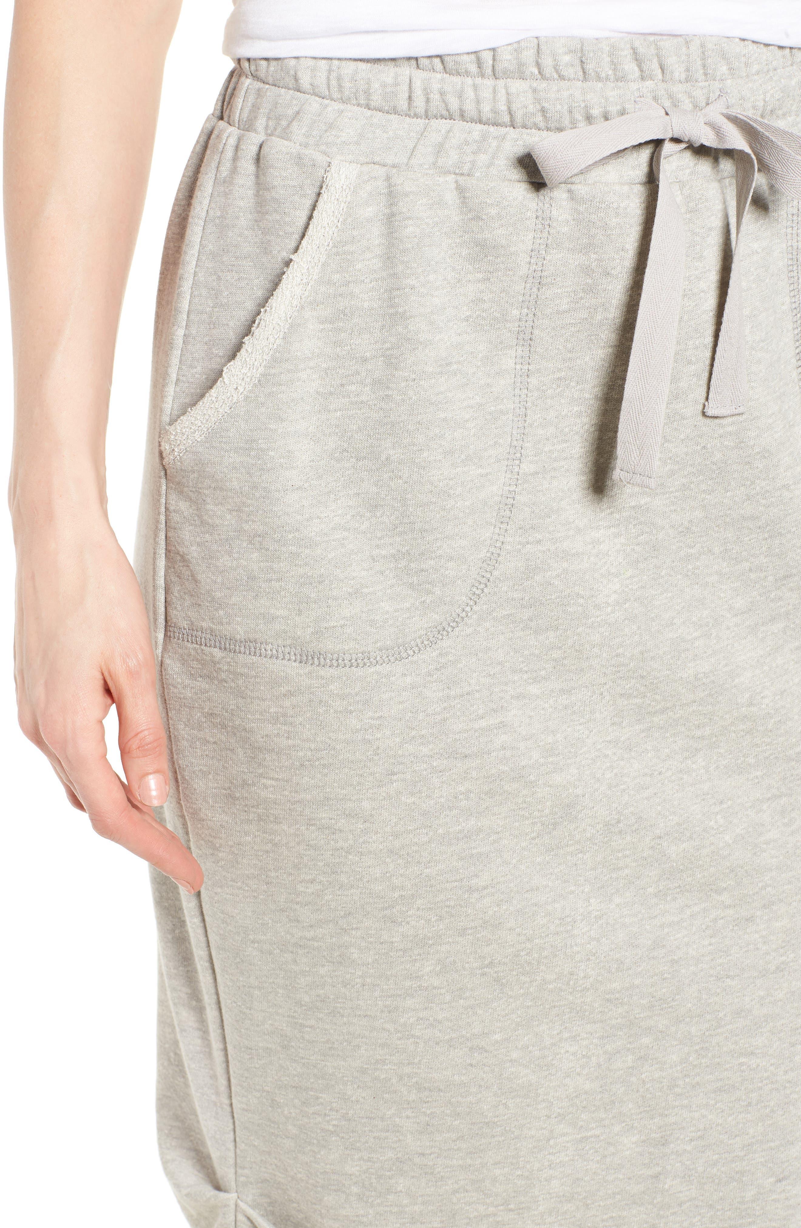Off-Duty Cotton Knit Drawstring Skirt,                             Alternate thumbnail 4, color,