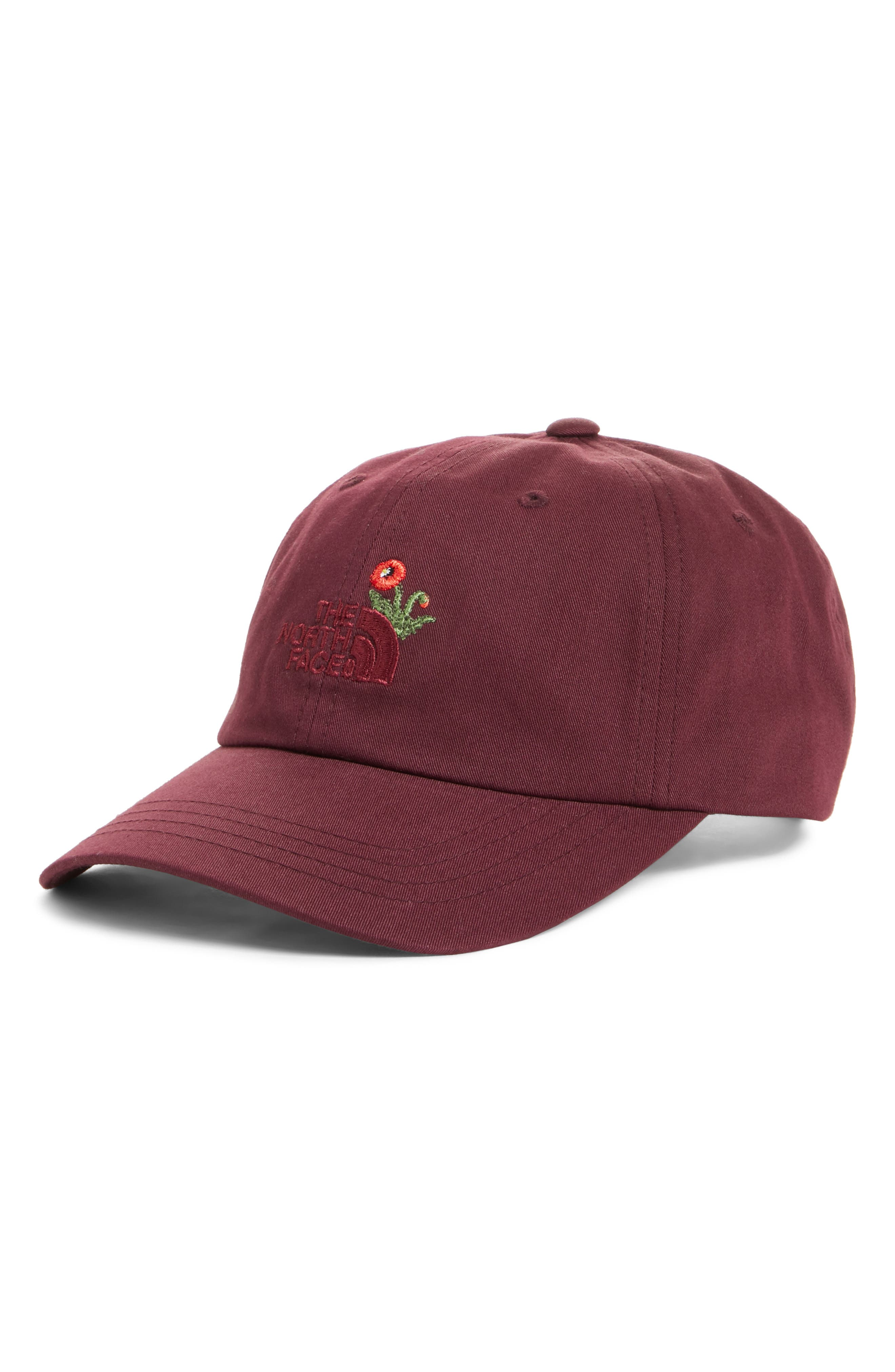 Norm Poppy Embroidered Adjustable Cap,                             Main thumbnail 3, color,