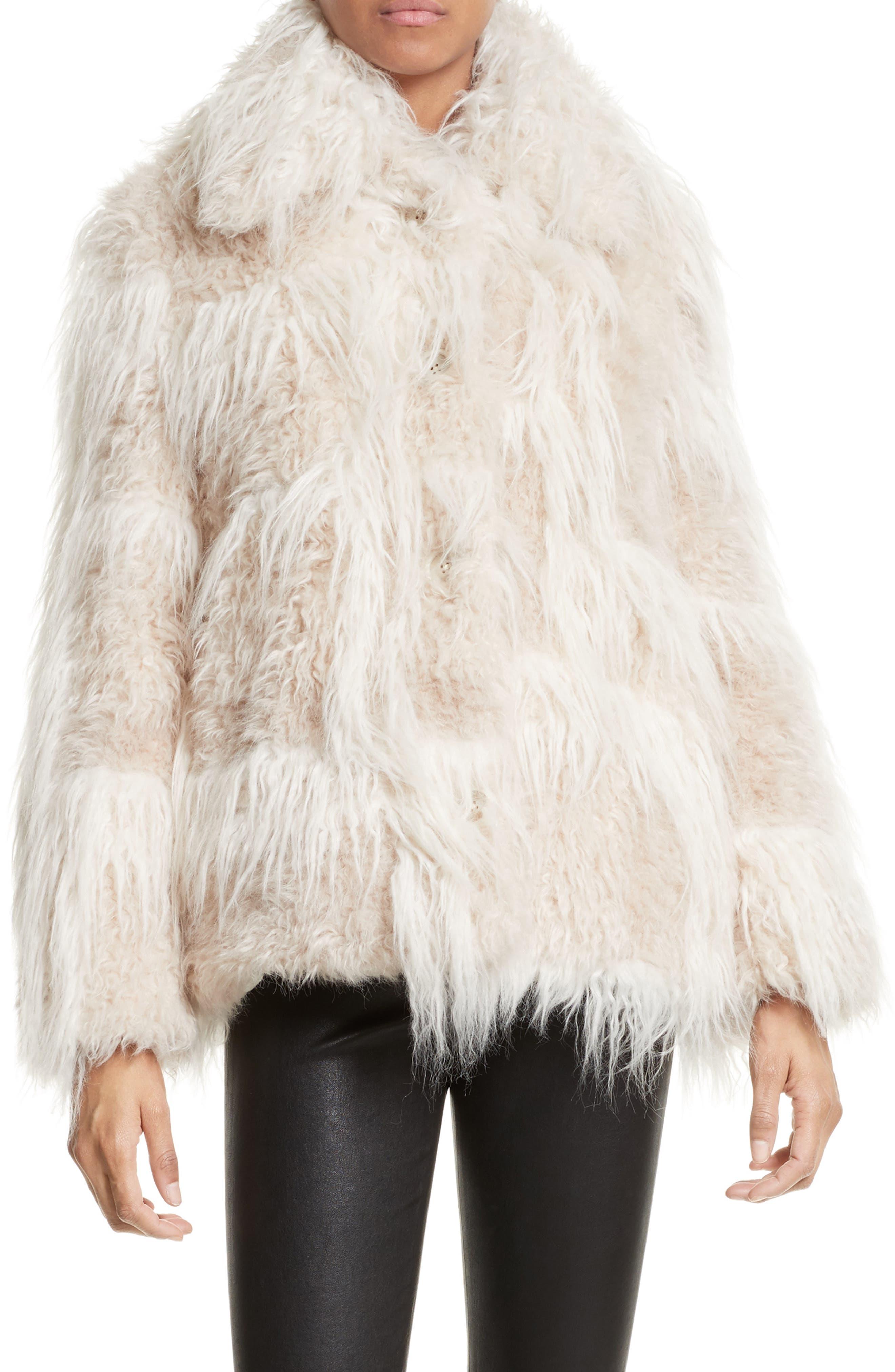 Faux Fur Jacket,                             Main thumbnail 1, color,                             194