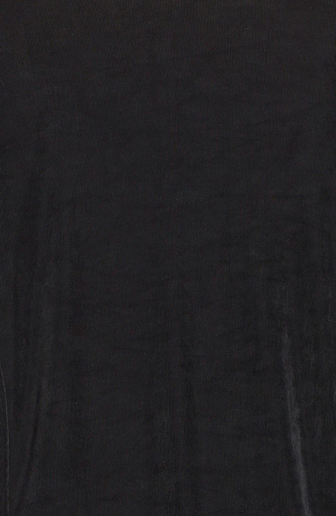 One-Button Stretch Knit Blazer,                             Alternate thumbnail 9, color,                             BLACK