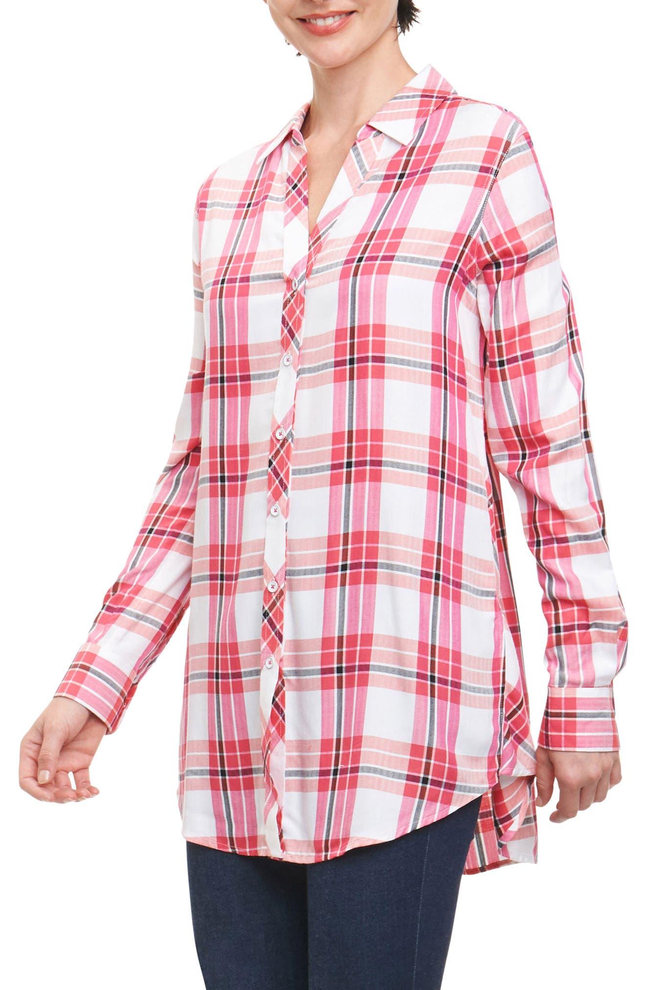 Fay Pinktini Plaid Shirt,                             Main thumbnail 1, color,                             MULTI