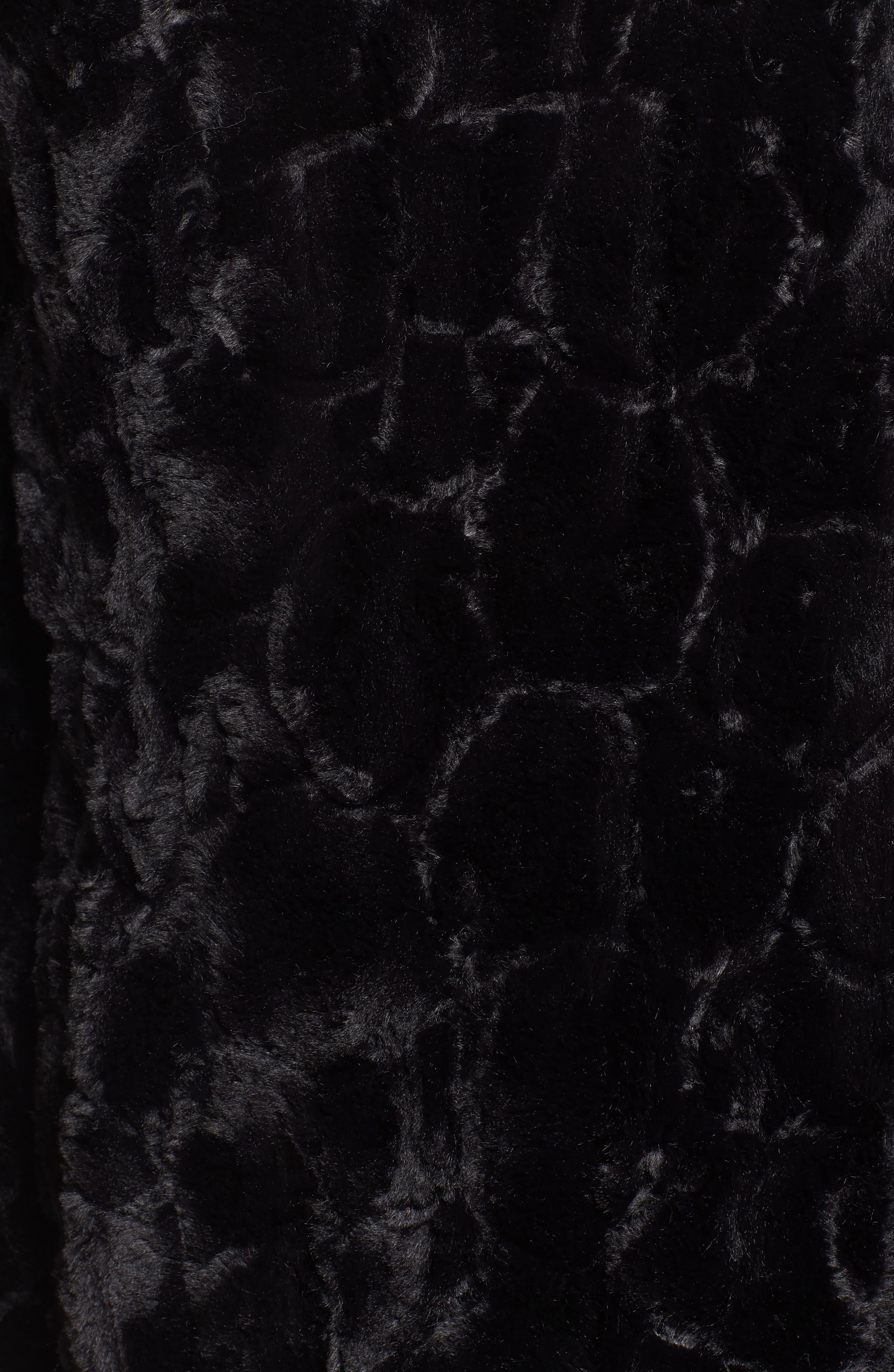 Tucker Wubby Faux Fur Coat,                             Alternate thumbnail 7, color,                             001