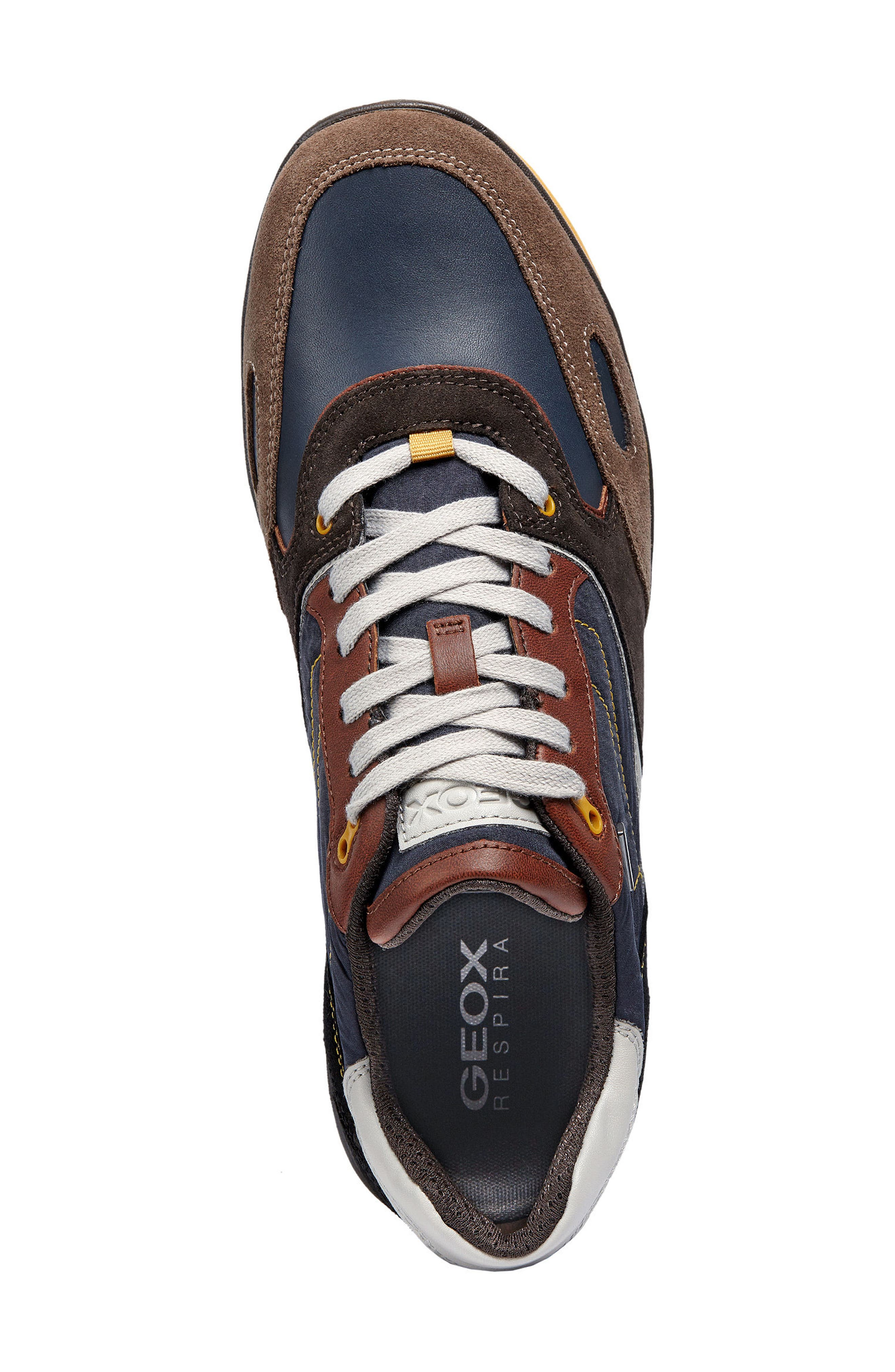 Sandford ABX 1 Waterproof Low Top Sneaker,                             Alternate thumbnail 5, color,                             CHOCOLATE/ NAVY LEATHER