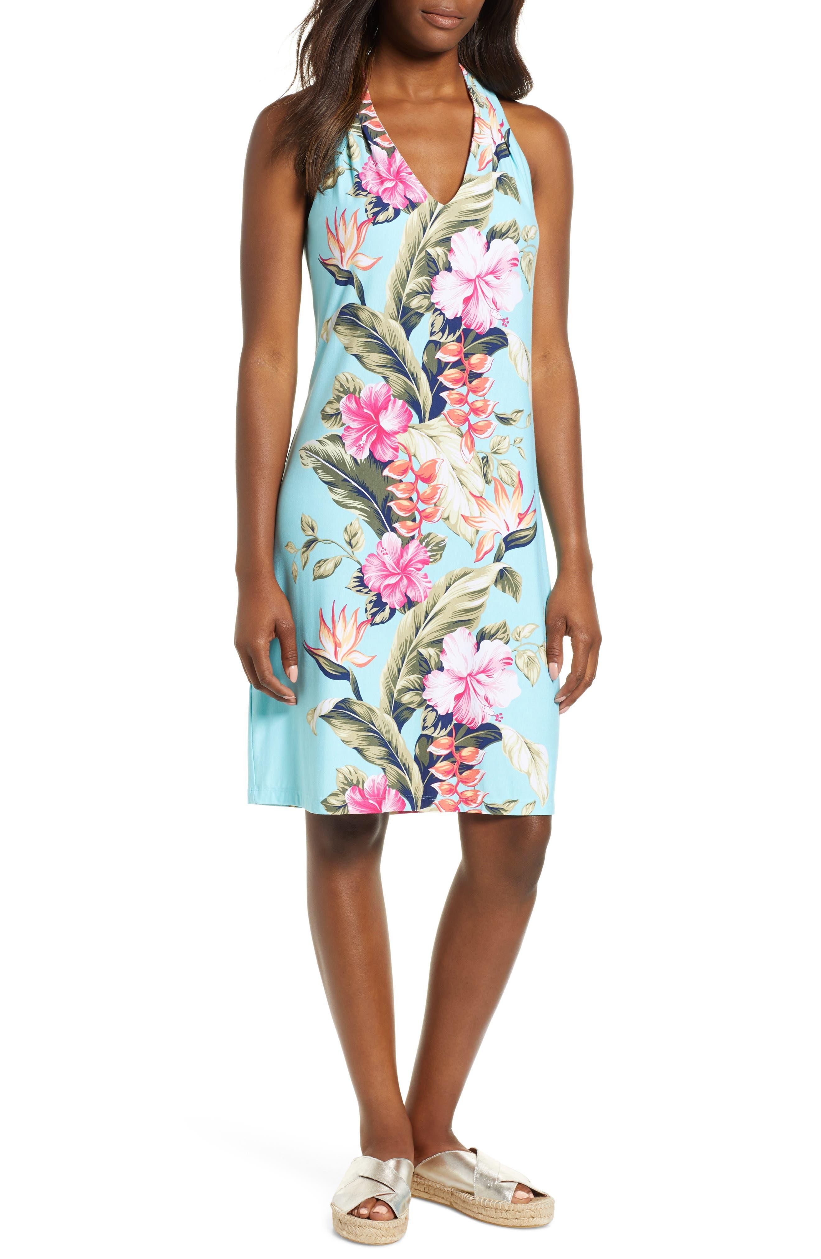 Kahuna Cascade Dress, Main, color, BLUE SWELL