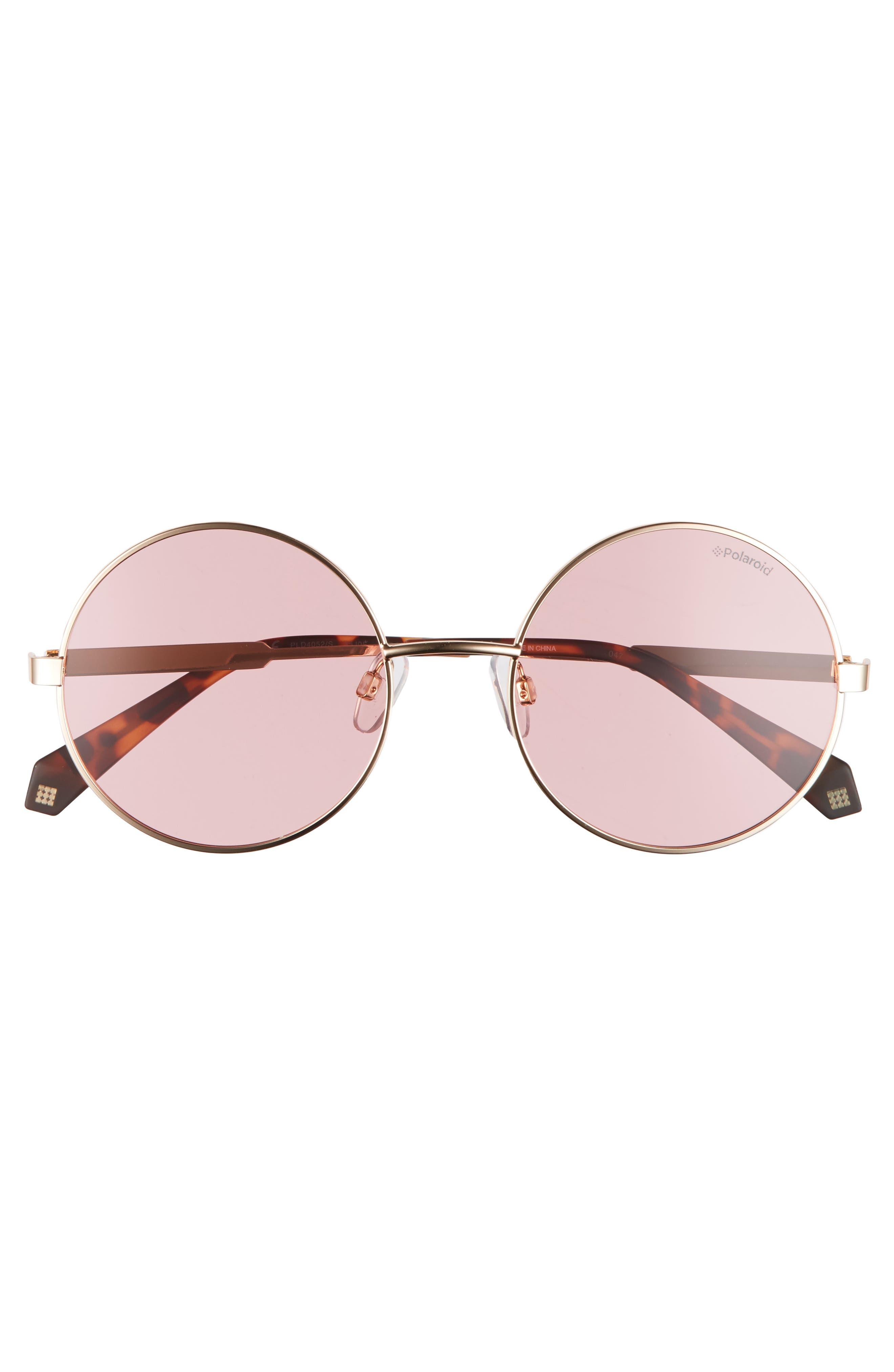 55mm Polarized Round Sunglasses,                             Alternate thumbnail 11, color,