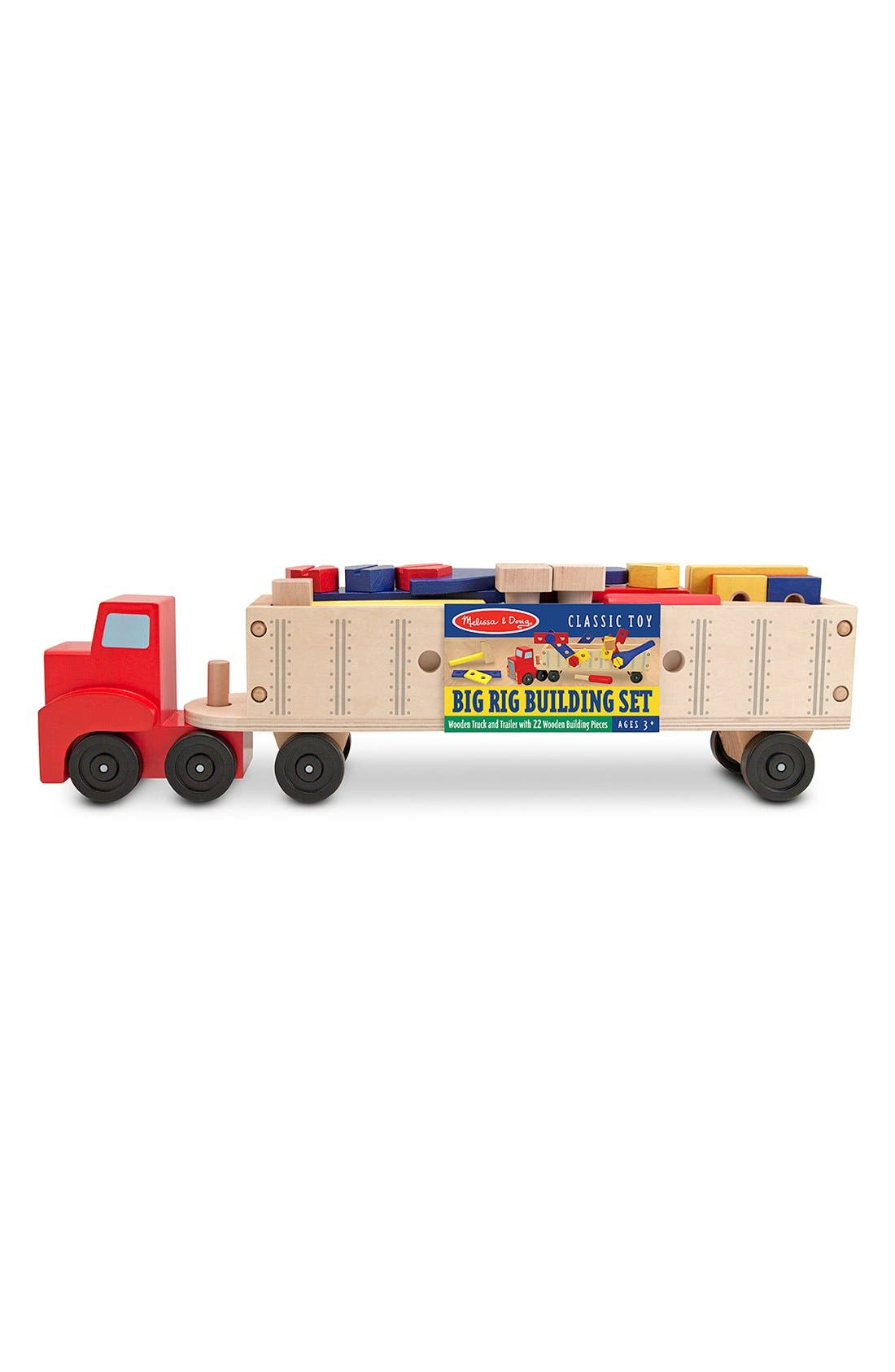 'Big Rig' Personalized Building Set,                             Main thumbnail 1, color,                             RED