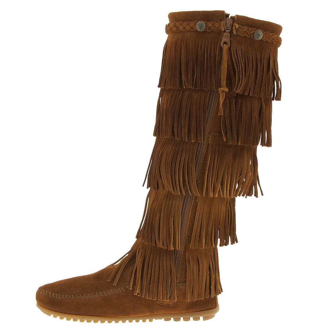 '5 Layer Fringe' Boot,                             Alternate thumbnail 2, color,                             BROWN