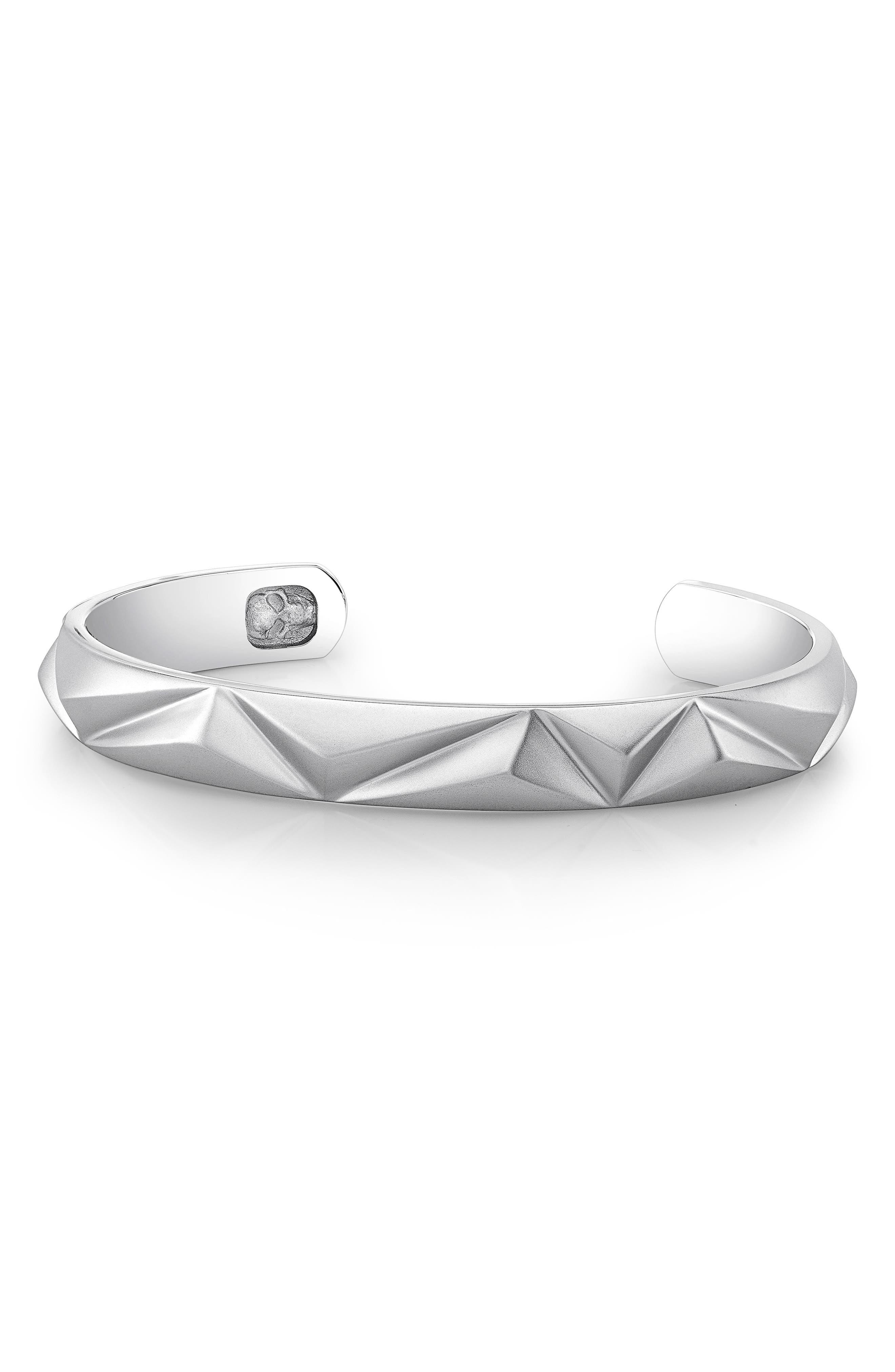 Pyramid Cuff Bracelet,                             Alternate thumbnail 4, color,