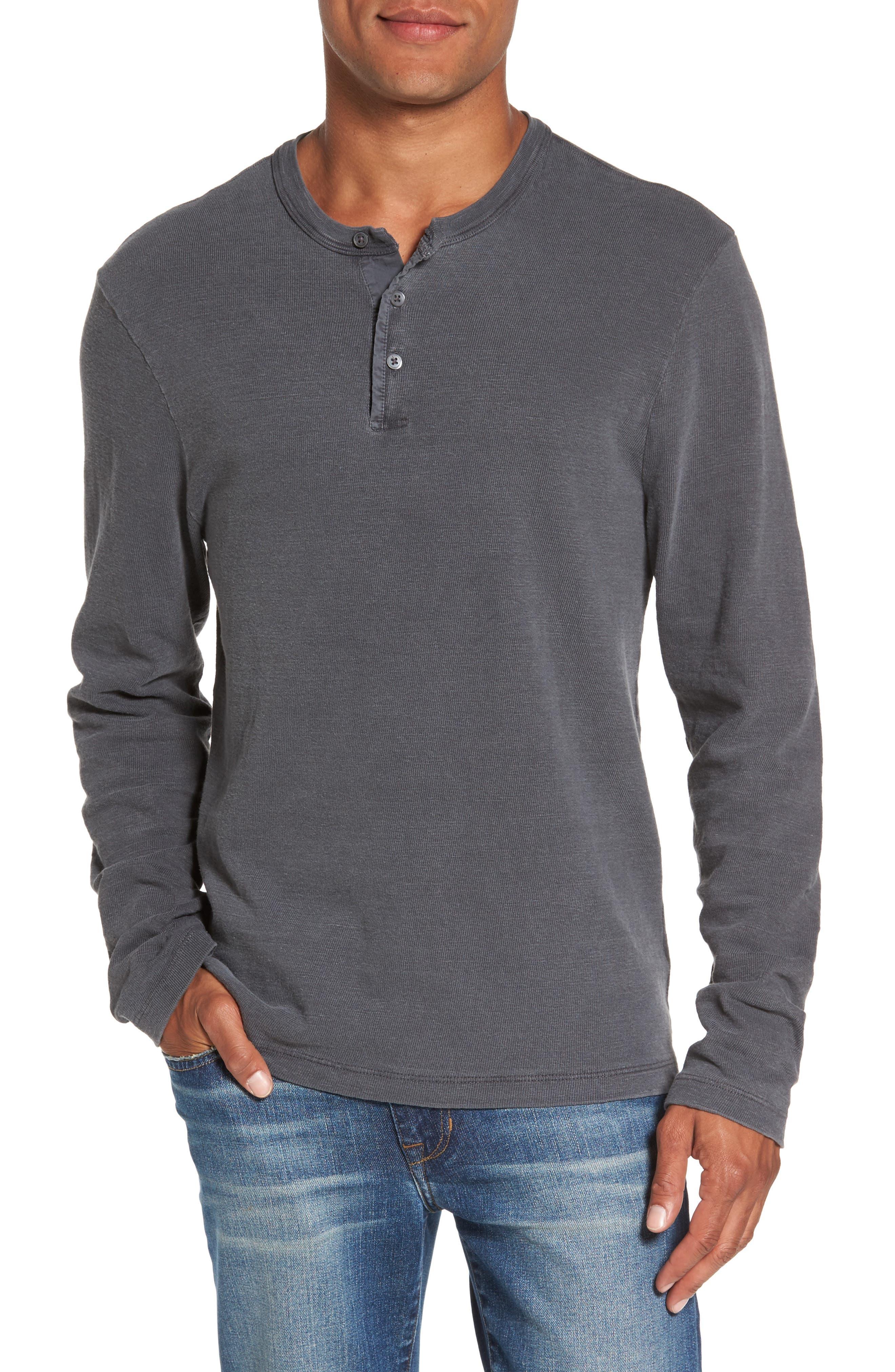 Long Sleeve Henley T-Shirt,                             Main thumbnail 3, color,