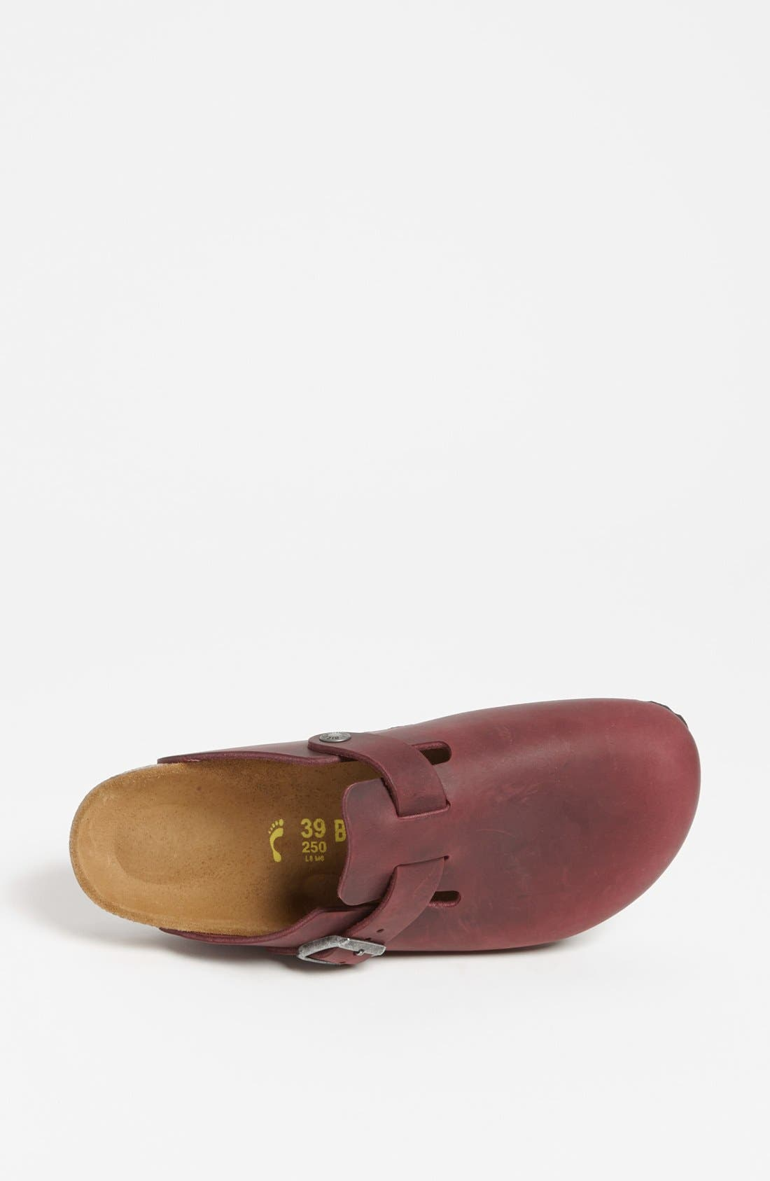 'Boston' Classic Oiled Leather Clog,                             Alternate thumbnail 23, color,