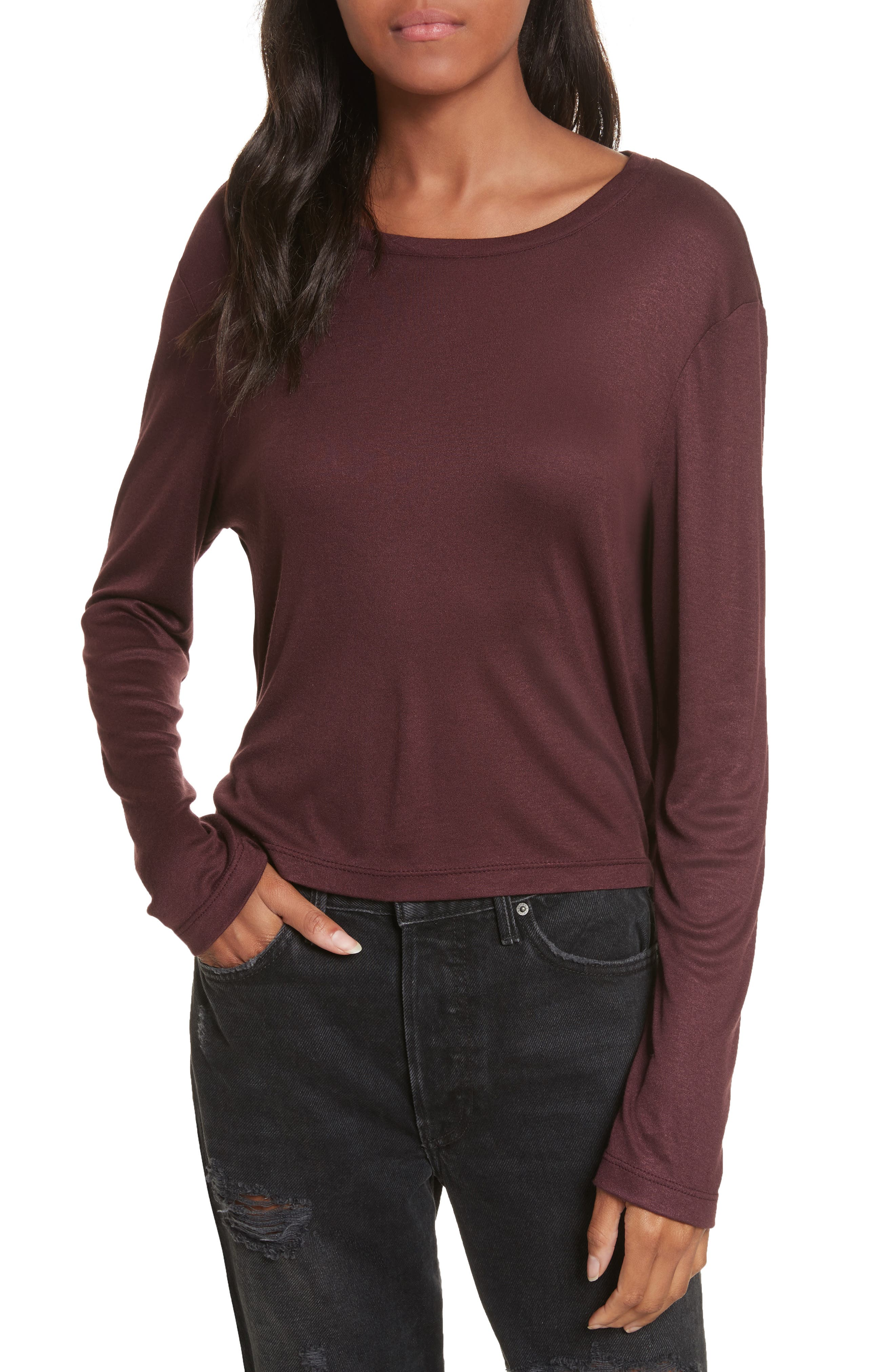 Willow Shine Jersey Open Back Top,                             Main thumbnail 2, color,