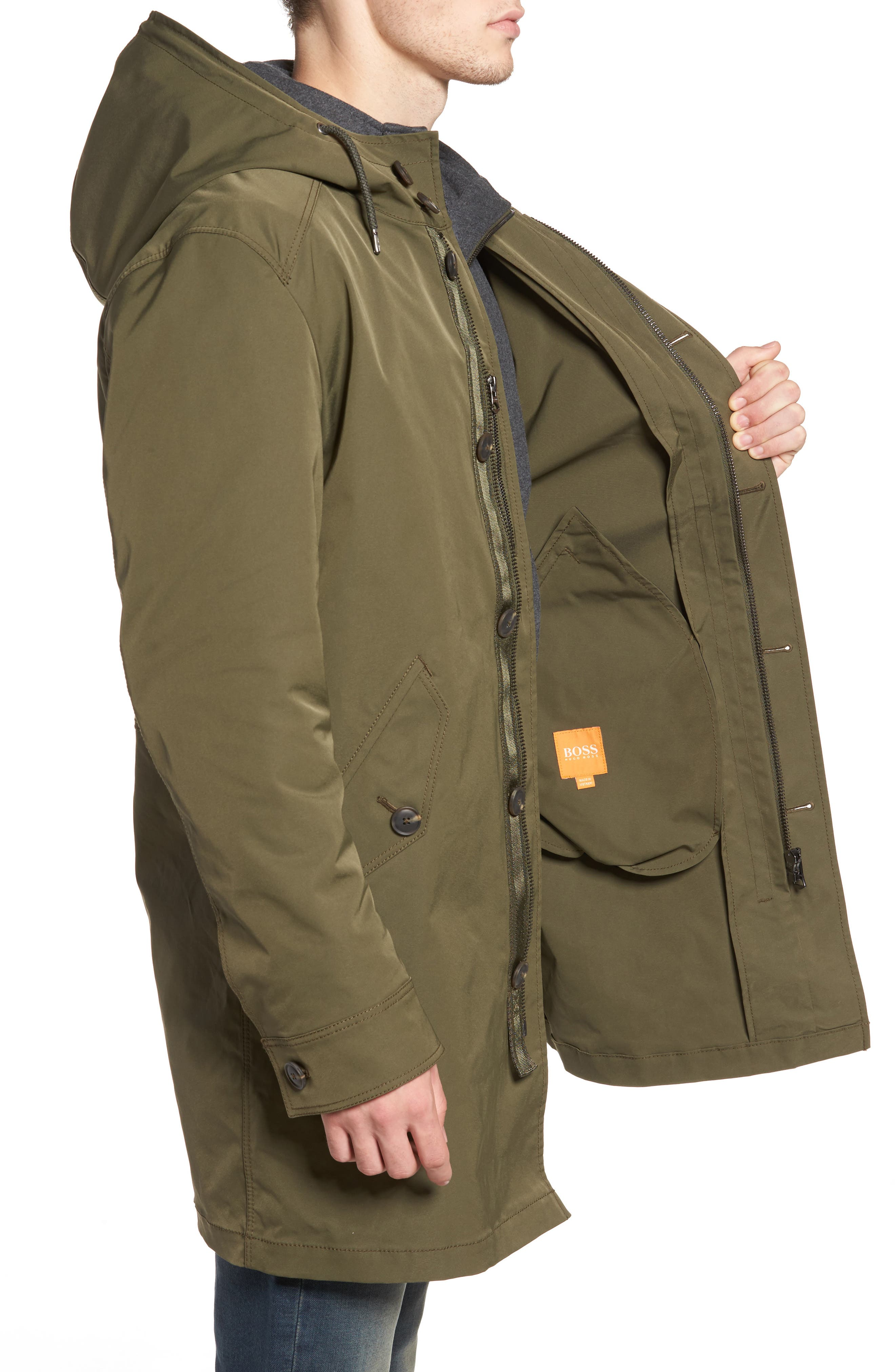 Odrax 3-in-1 Water Repellent Parka,                             Alternate thumbnail 3, color,