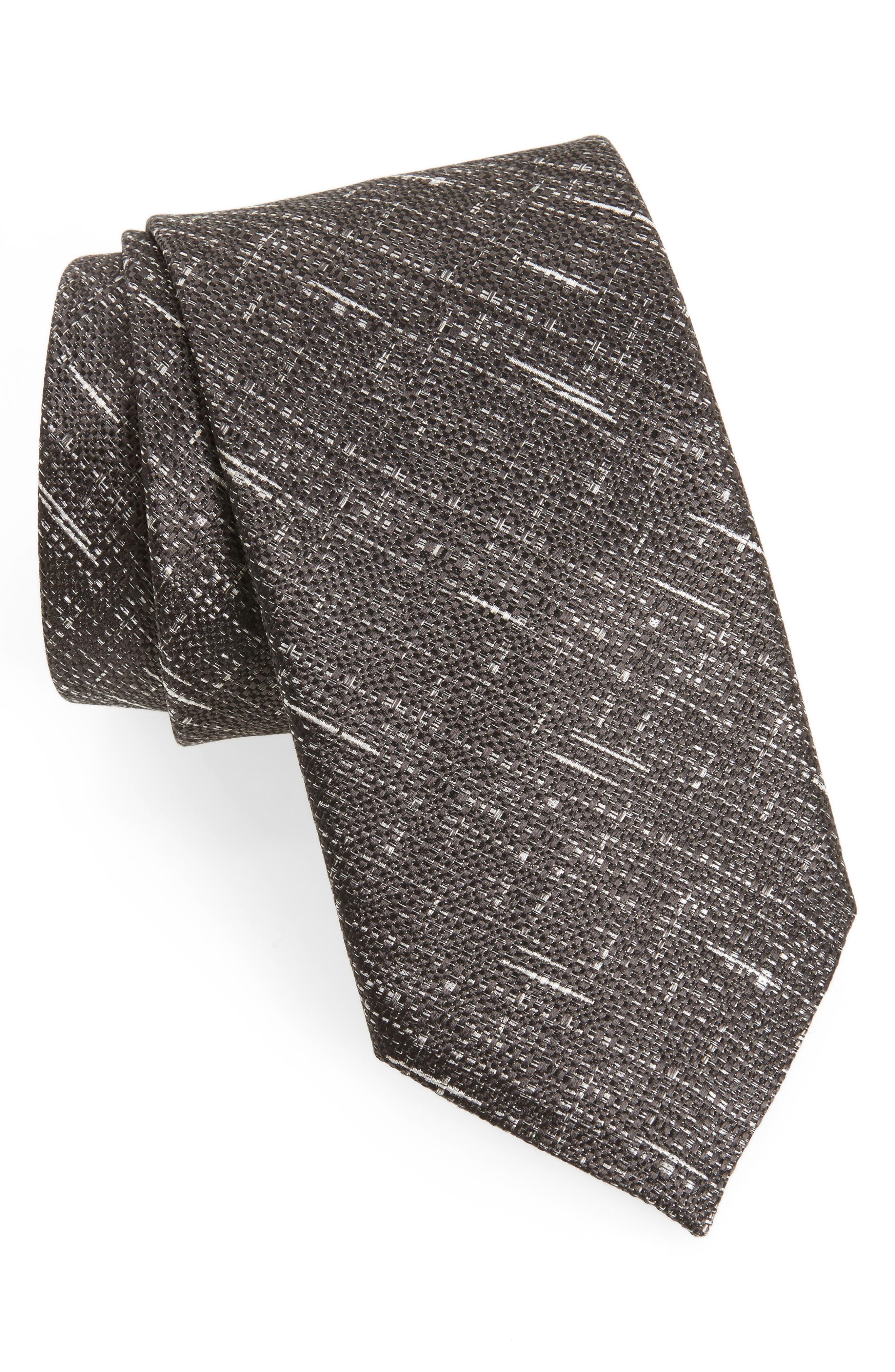 Textured Silk Tie,                         Main,                         color,