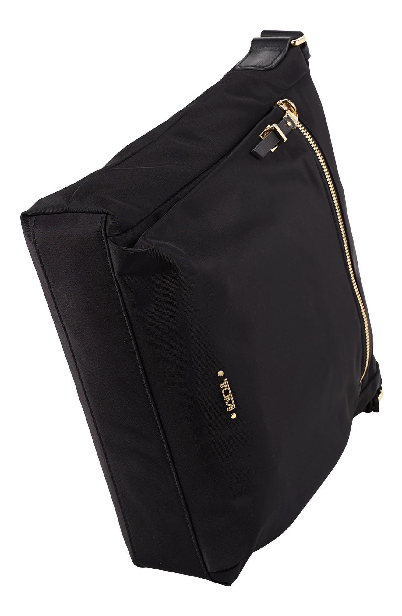 Voyageur - Canton Nylon Crossbody Bag,                             Alternate thumbnail 5, color,                             BLACK