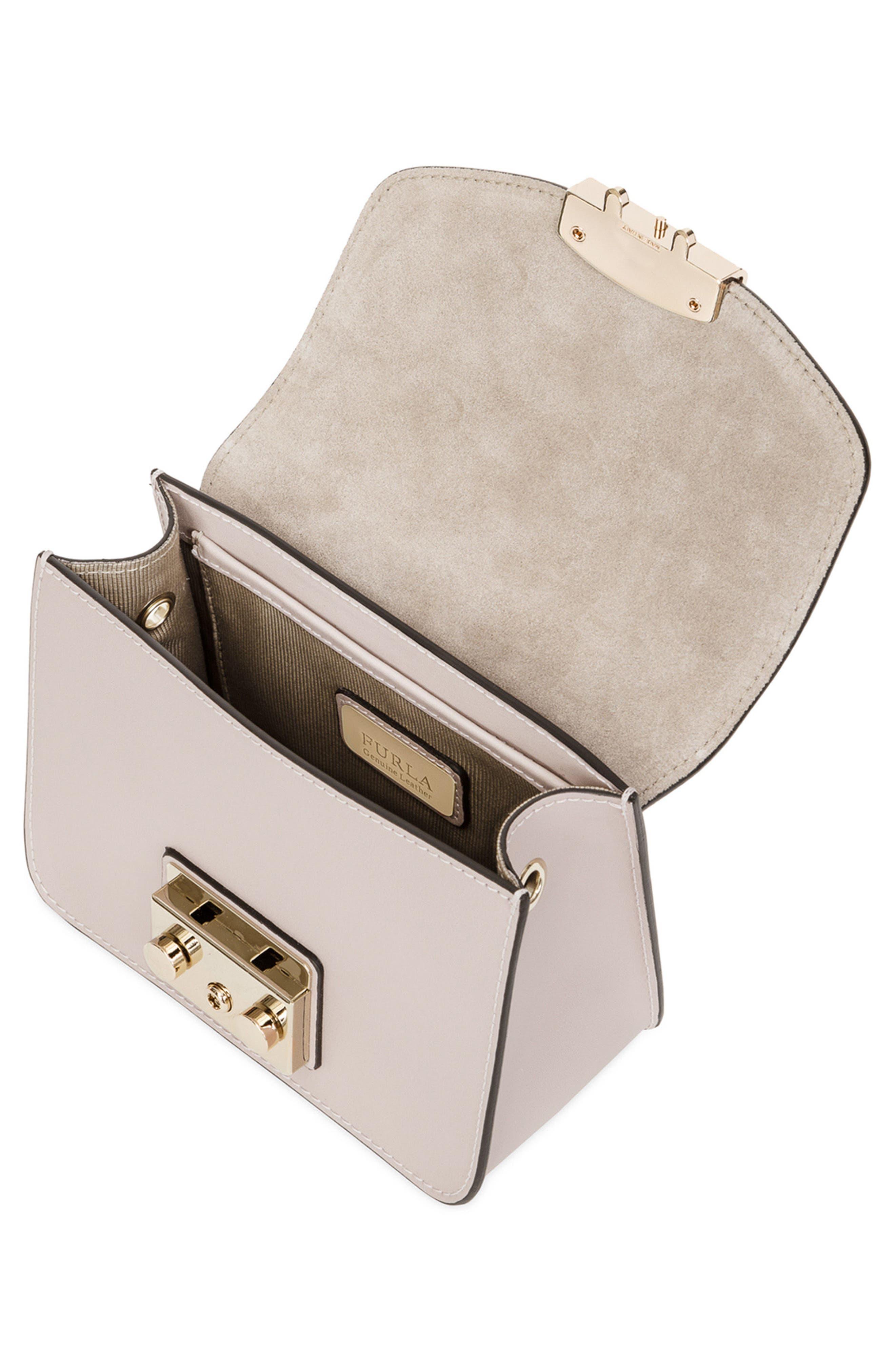 Mini Metropolis Leather Crossbody Bag,                             Alternate thumbnail 6, color,