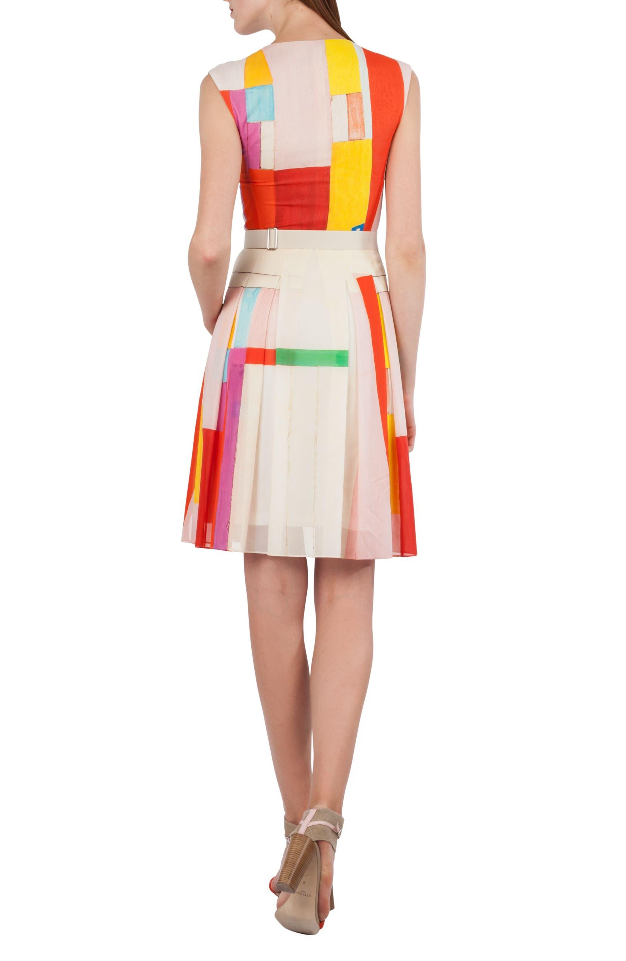 Mural Print Cotton Voile Dress,                             Alternate thumbnail 2, color,                             900