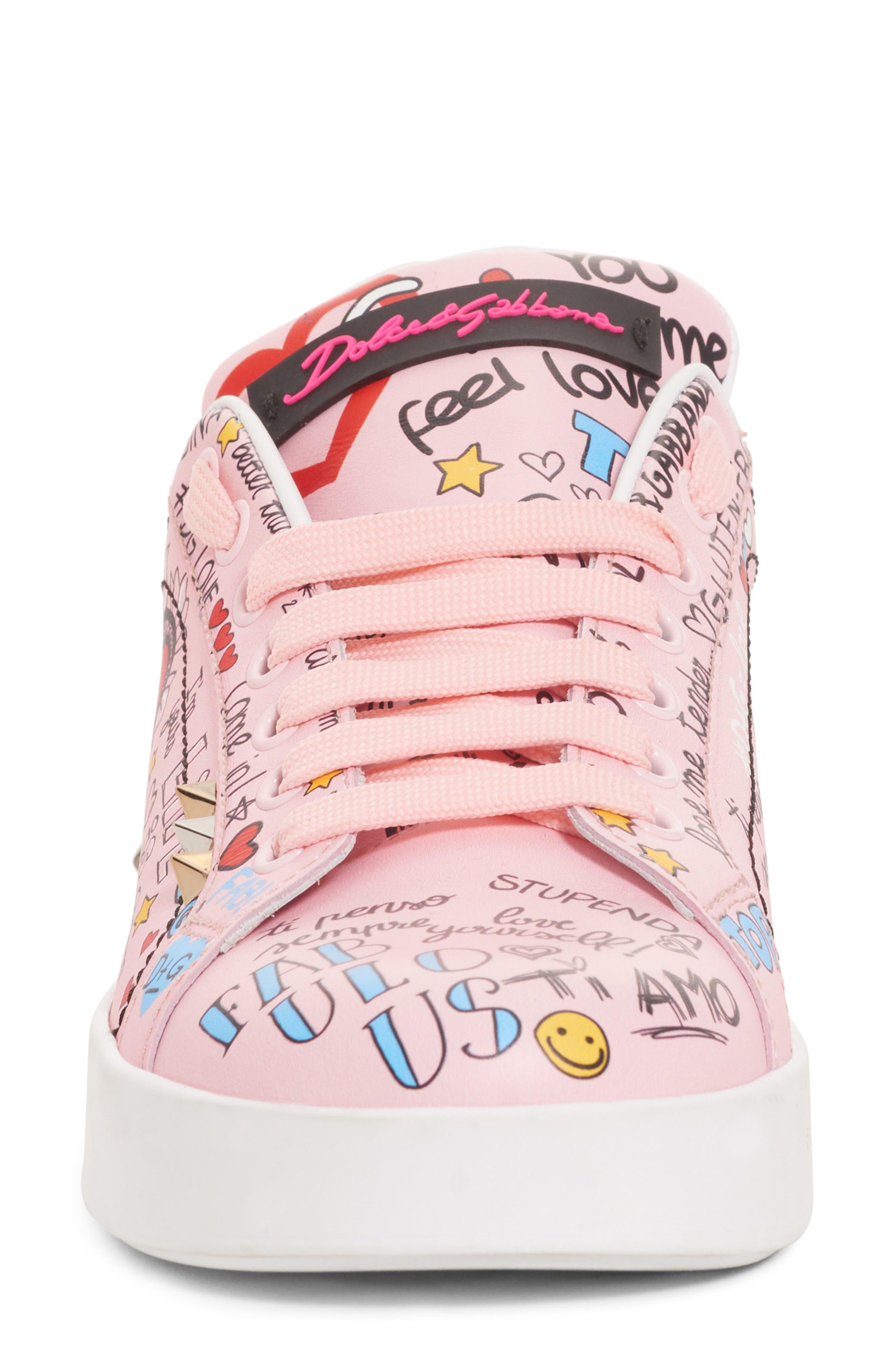 DOLCE&GABBANA,                             Mural Graffiti Sneaker,                             Alternate thumbnail 4, color,                             690