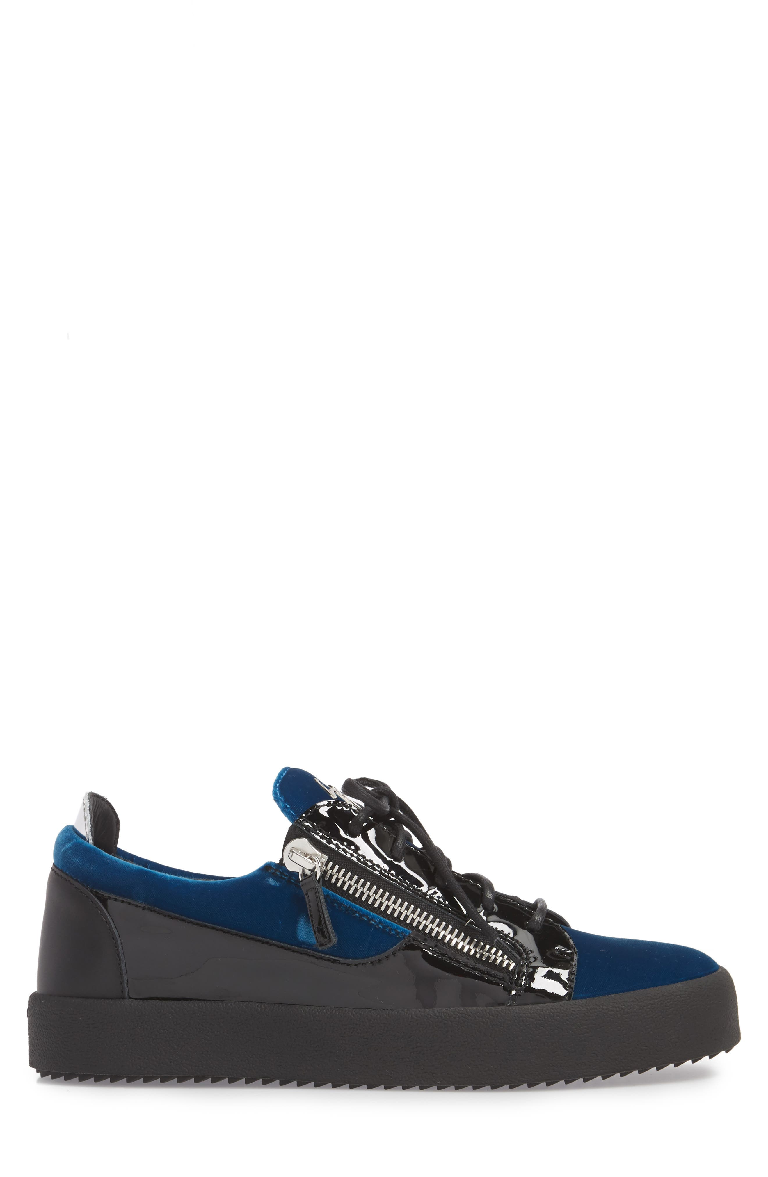 Camo Sneaker,                             Alternate thumbnail 3, color,                             BLUE