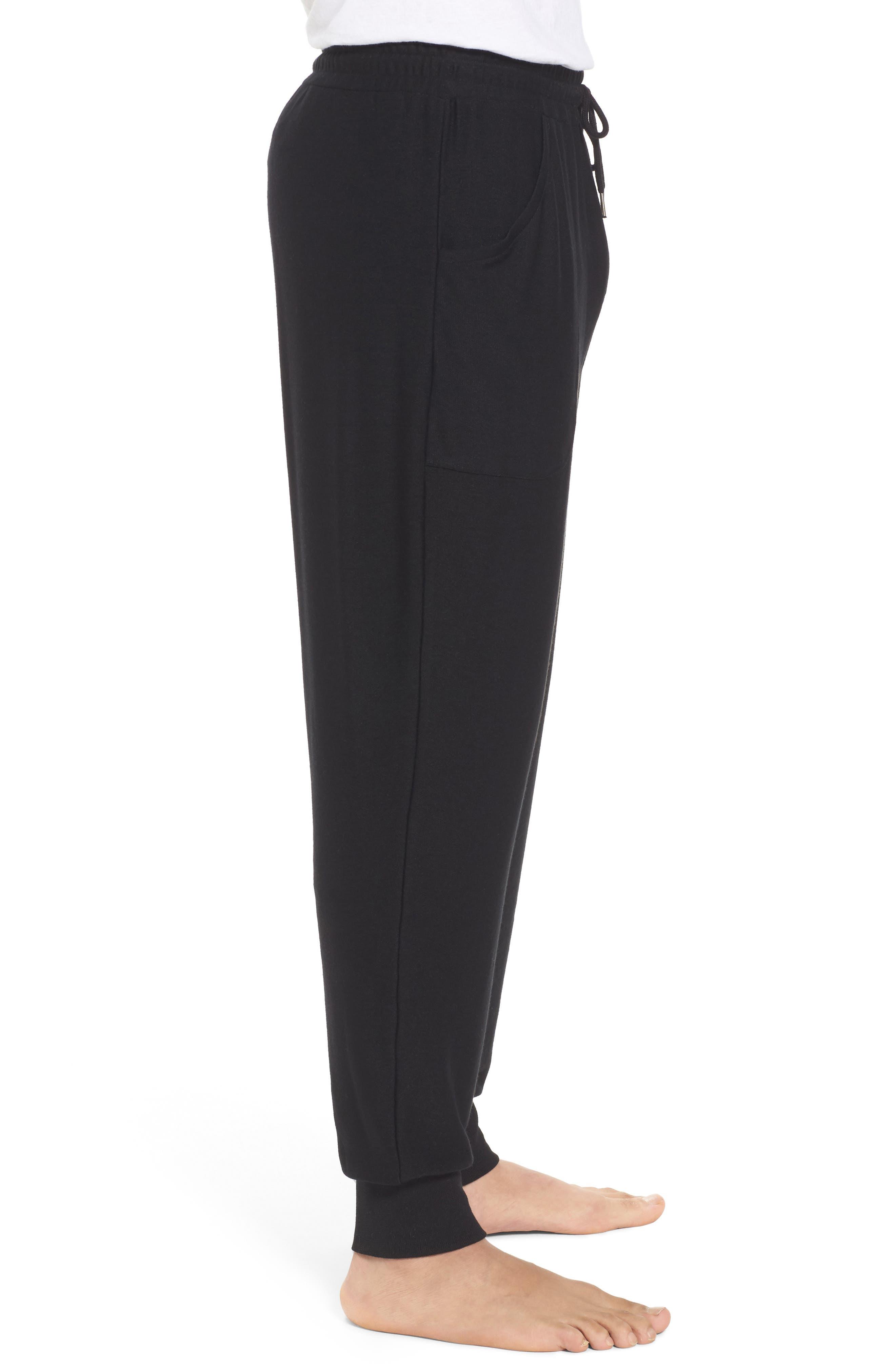 Ultra Soft Jogger Pants,                             Alternate thumbnail 3, color,                             BLACK