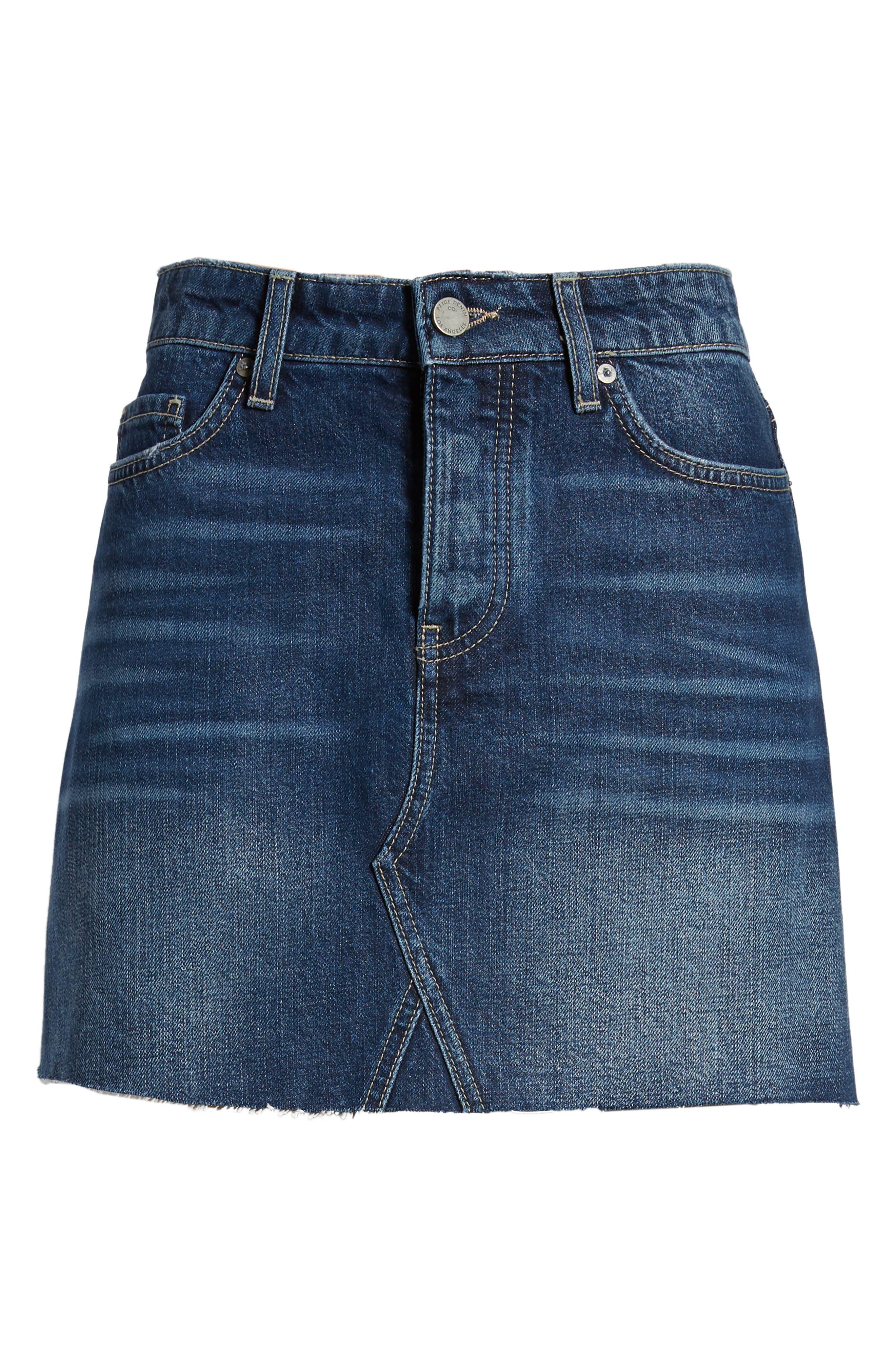 Aideen Denim Miniskirt,                             Alternate thumbnail 6, color,                             400