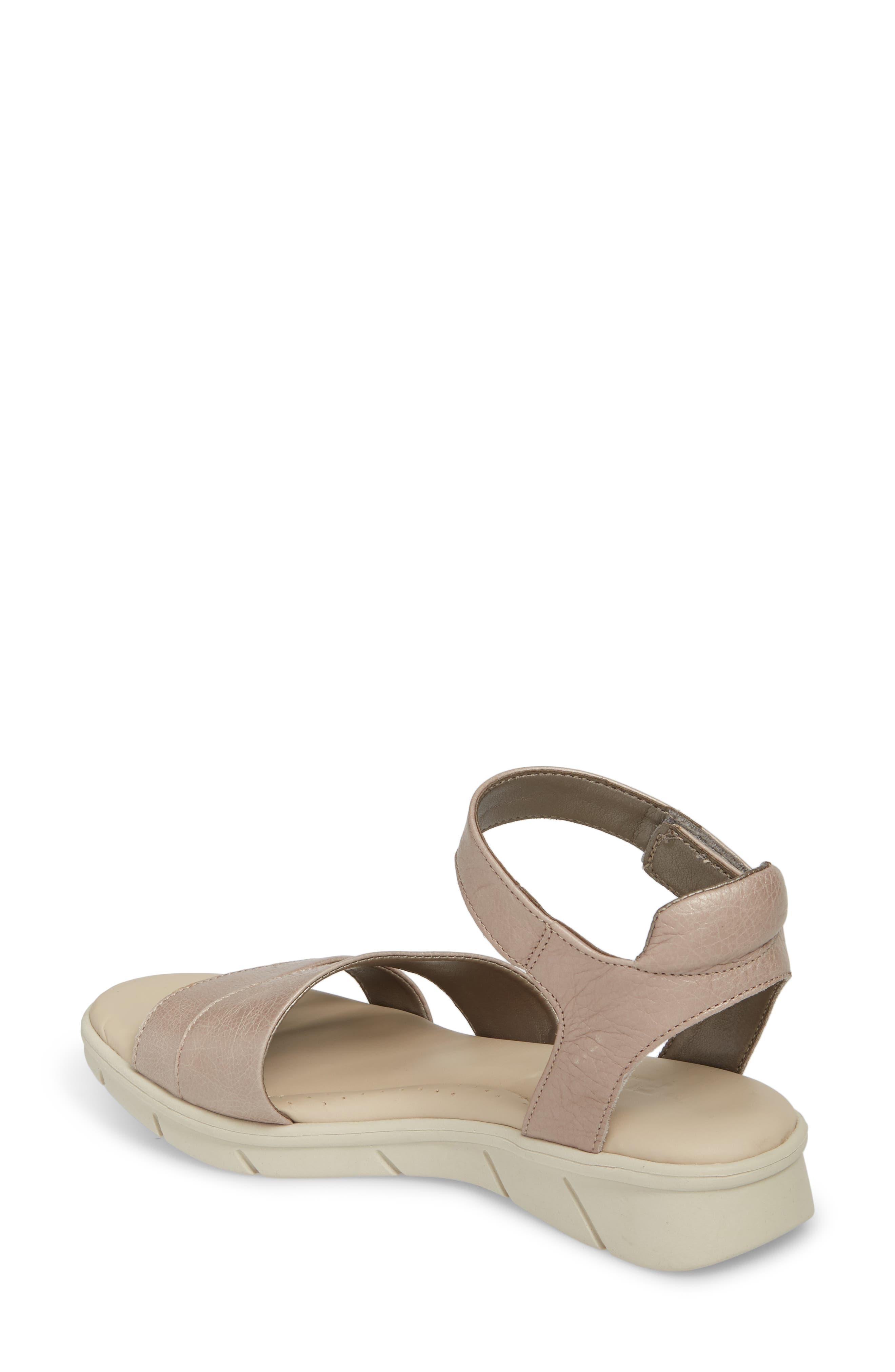 Crossover Ankle Strap Sandal,                             Alternate thumbnail 2, color,                             HAZE CRACKLED LEATHER