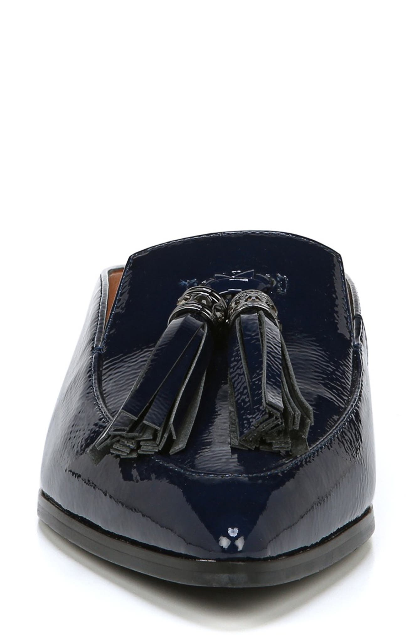 Nevan Mule,                             Alternate thumbnail 4, color,                             COBALT NAVY CRINKLE PATENT